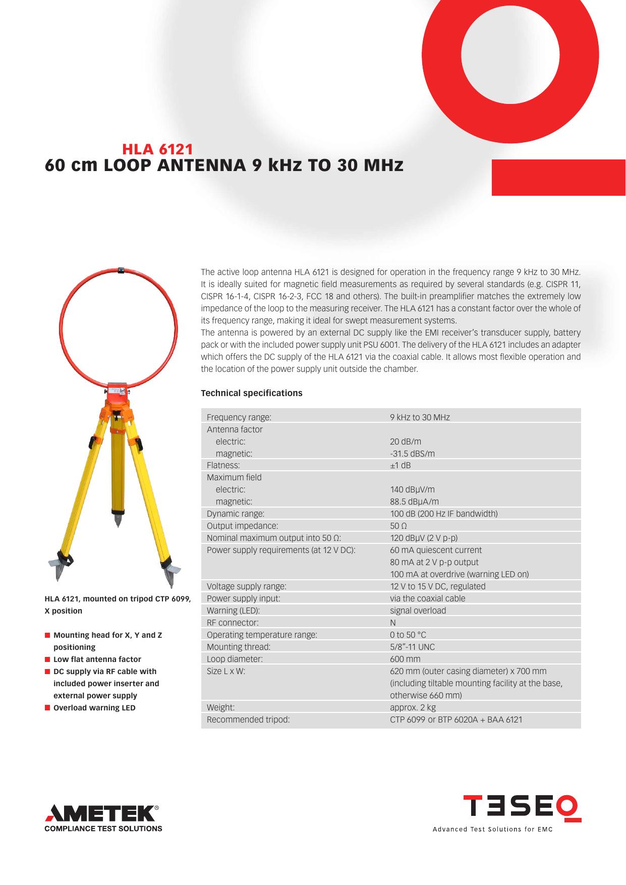 60 cm LOOP ANTENNA 9 kHz TO 30 MHz | manualzz com