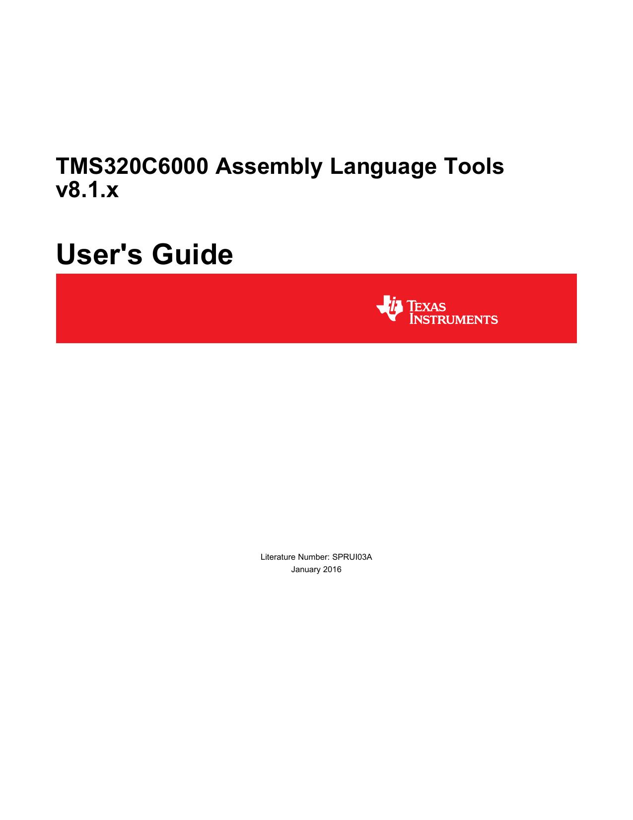 tms320c6000 assembly language tools v8 2 manualzz comtms320c6000 assembly language tools v8 2