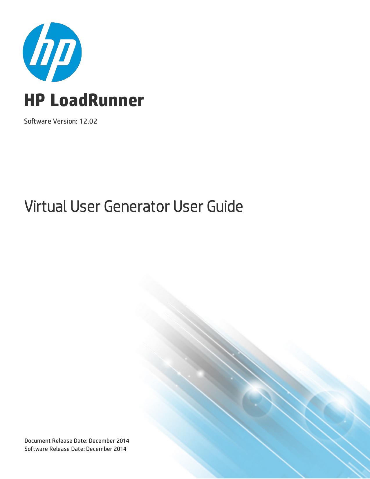 HP Virtual User Generator User Guide | manualzz com