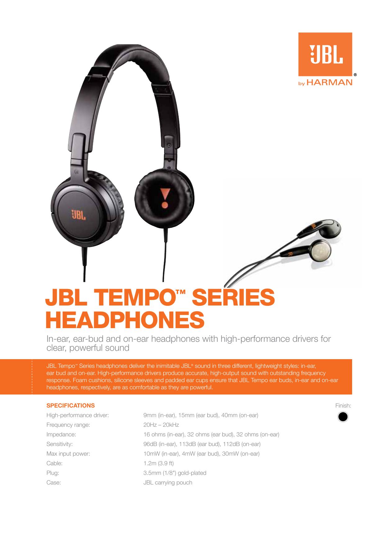 JBL TEMPO™ SERIES HEADPHONES | manualzz com