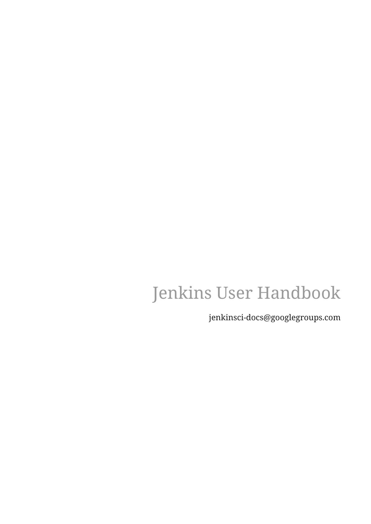 Jenkins User Handbook | manualzz com