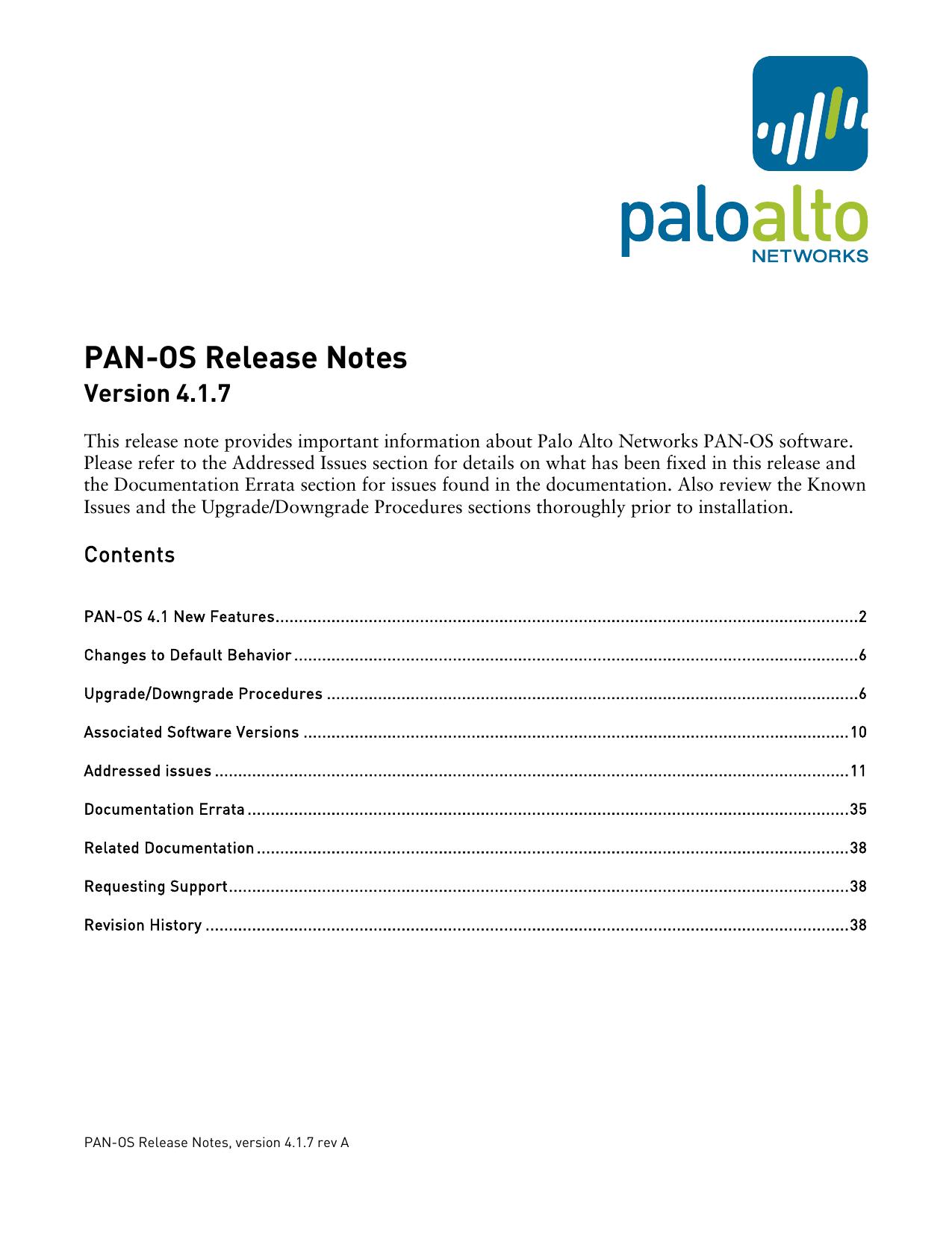 Palo Alto Networks Release Notes - Apache2 Ubuntu Default Page
