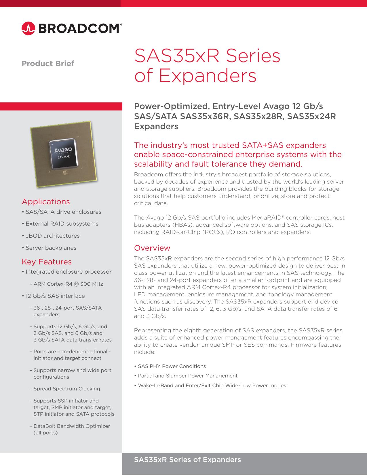SAS35xR Series of Expanders | manualzz com