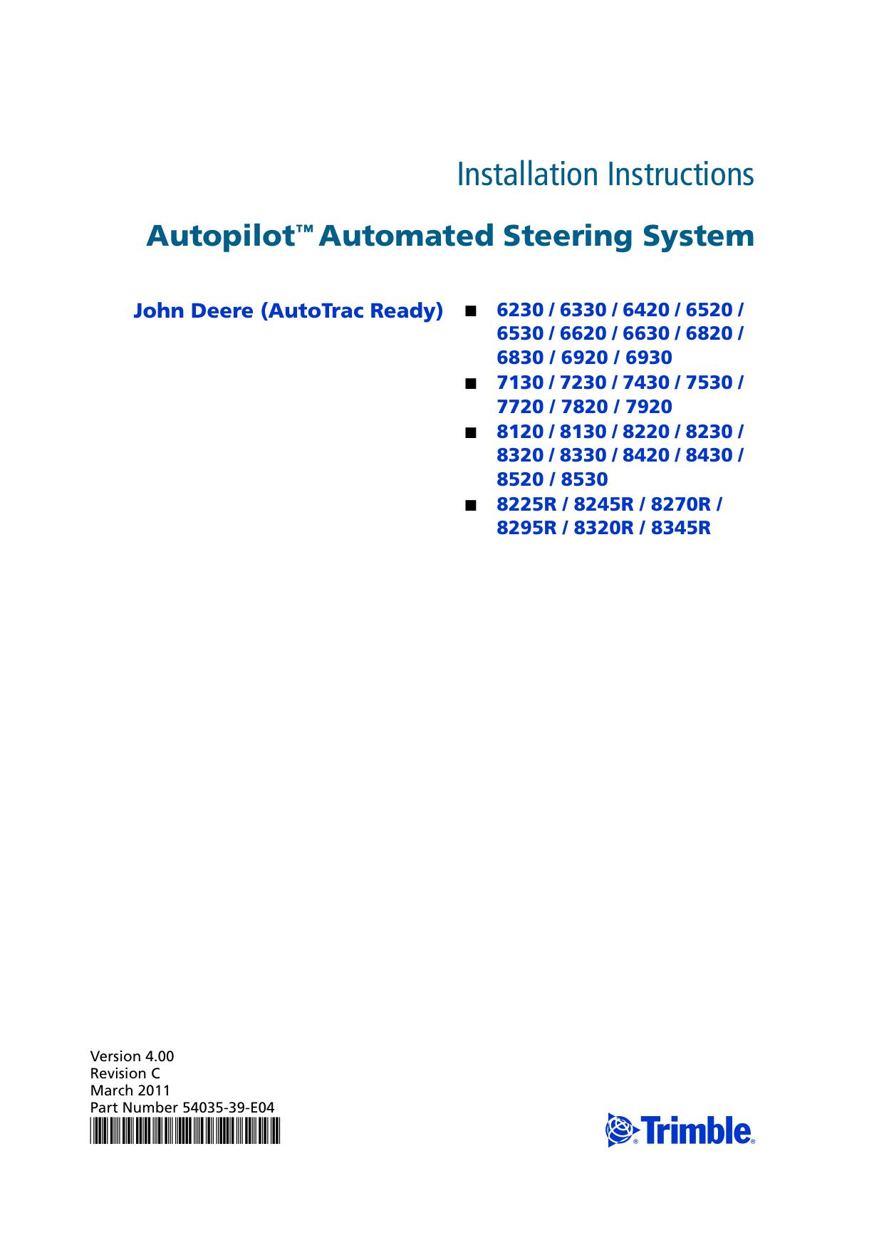 Autopilot System Installation Instructions | manualzz com