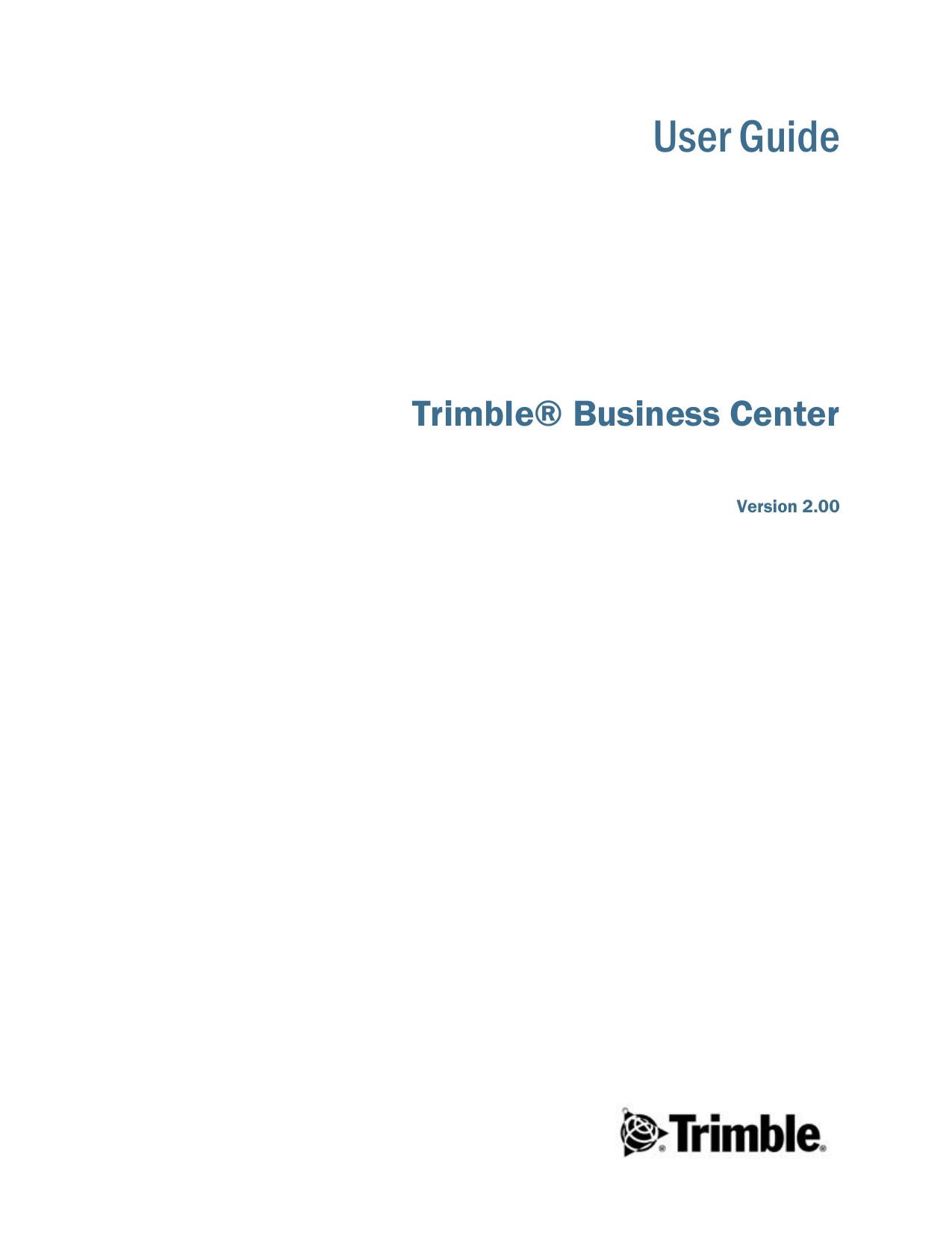 Trimble Business Center User Guide | manualzz com