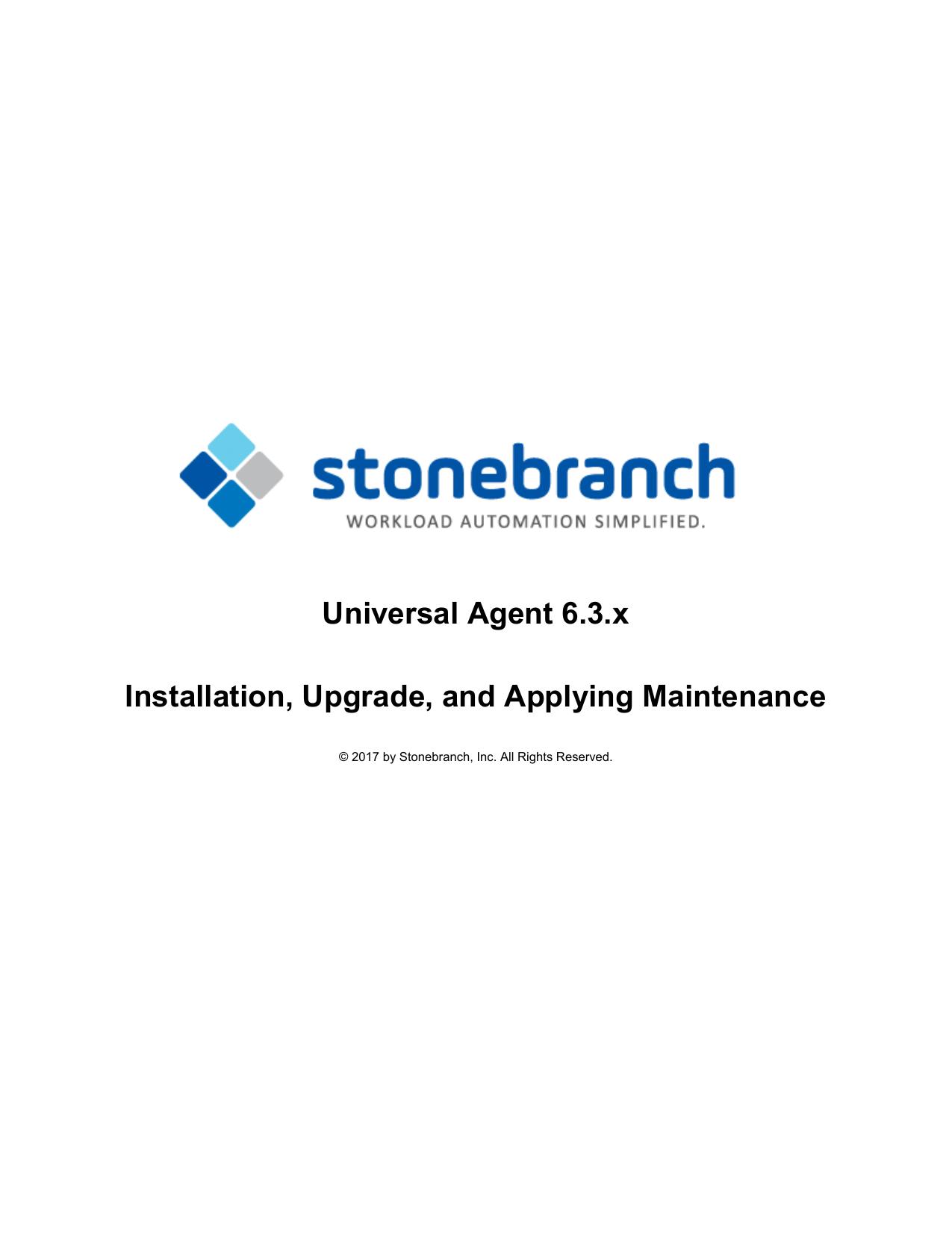 Universal Agent 6 3 x Installation, Upgrade, and   manualzz com