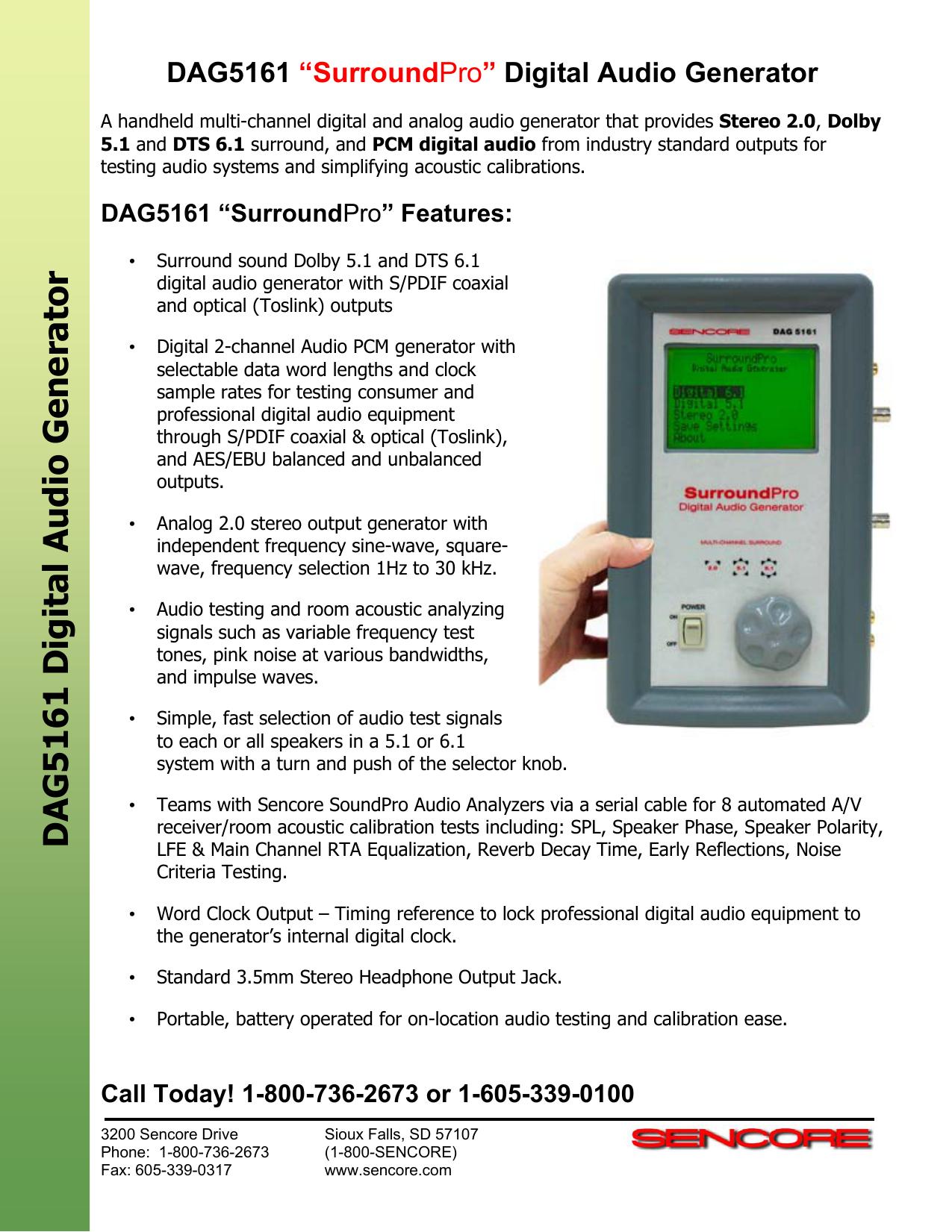 DAG5161 Digital Audio Generato r   manualzz com
