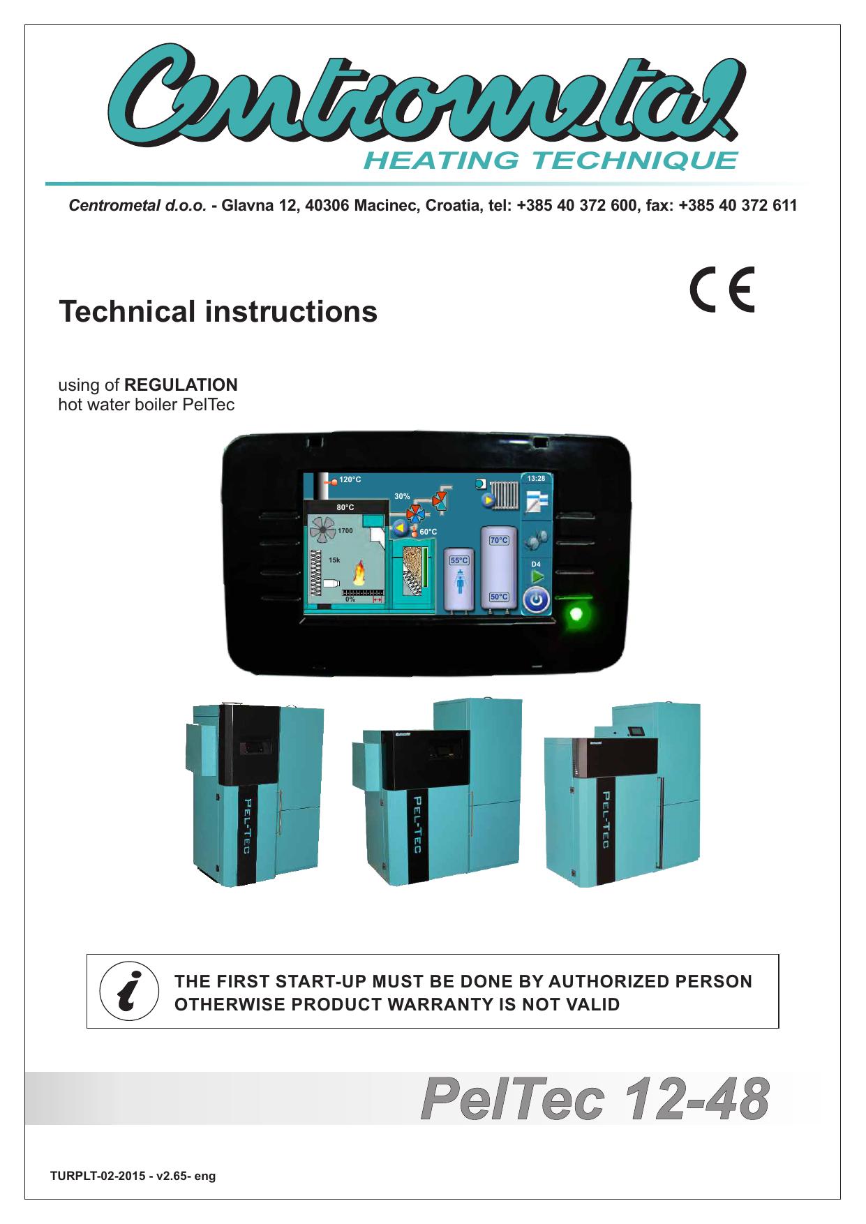 PelTec 12-48 - Centrometal | manualzz.com