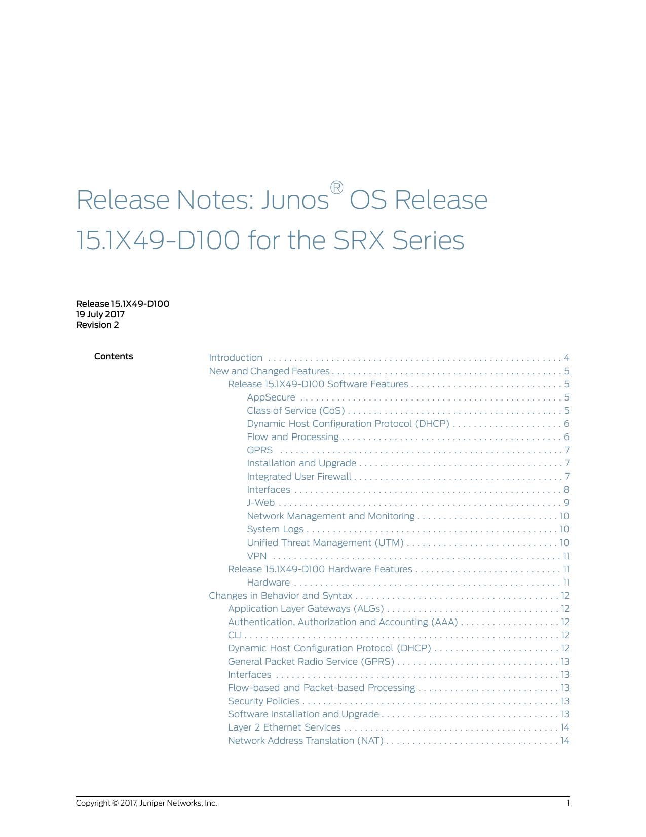 Release Notes: Junos® OS Release 15 1X49 | manualzz com