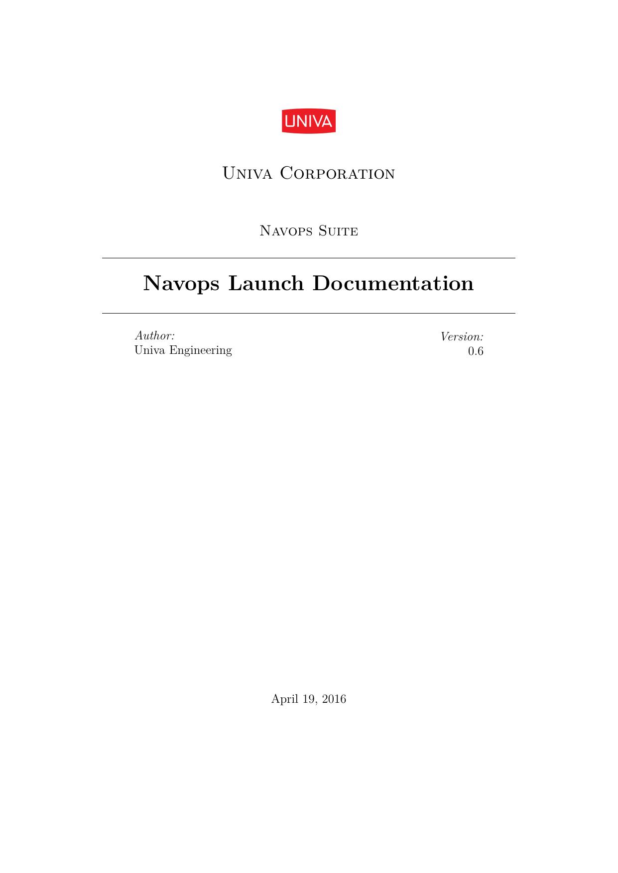 Navops Launch Documentation | manualzz com