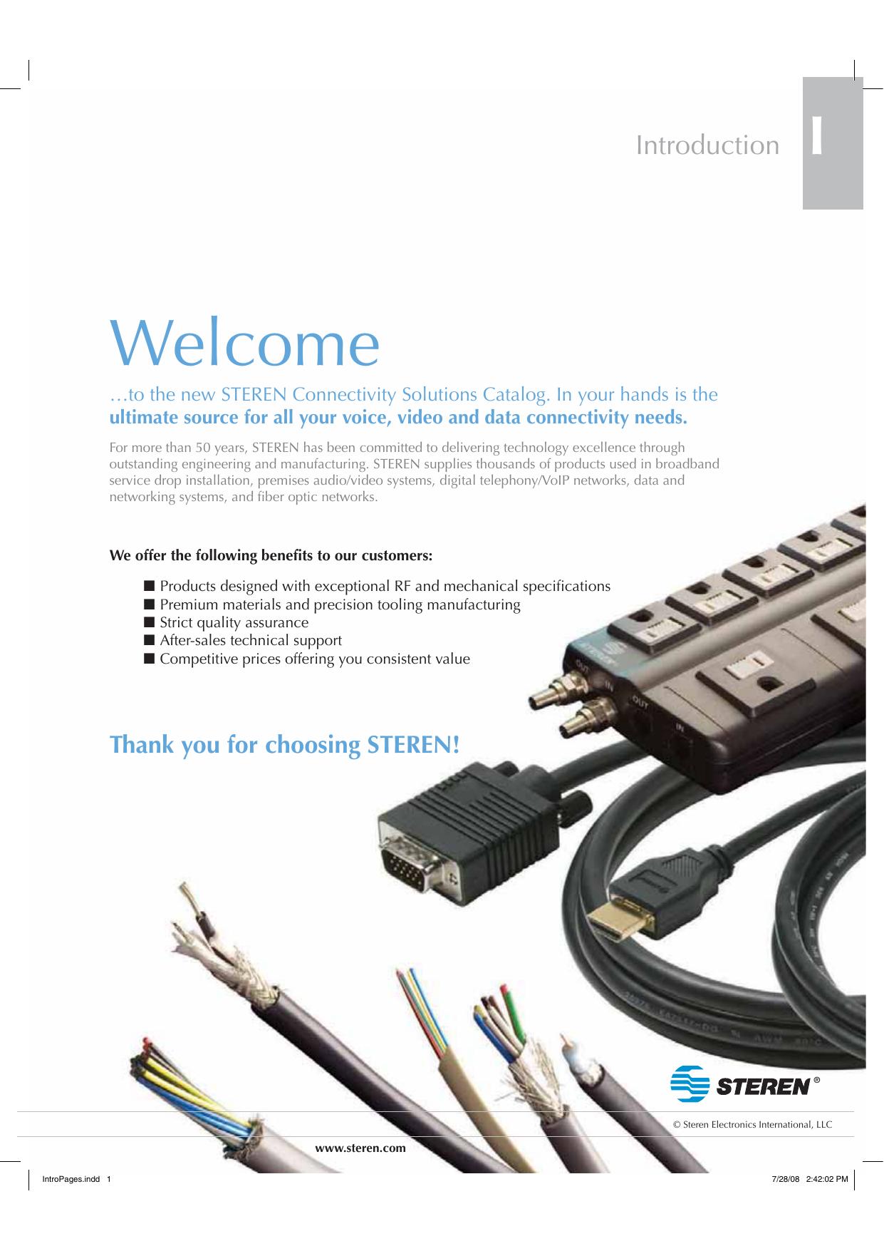 Steren 505-390 6 foot Non-Polarized Equipment Power Cord NEW