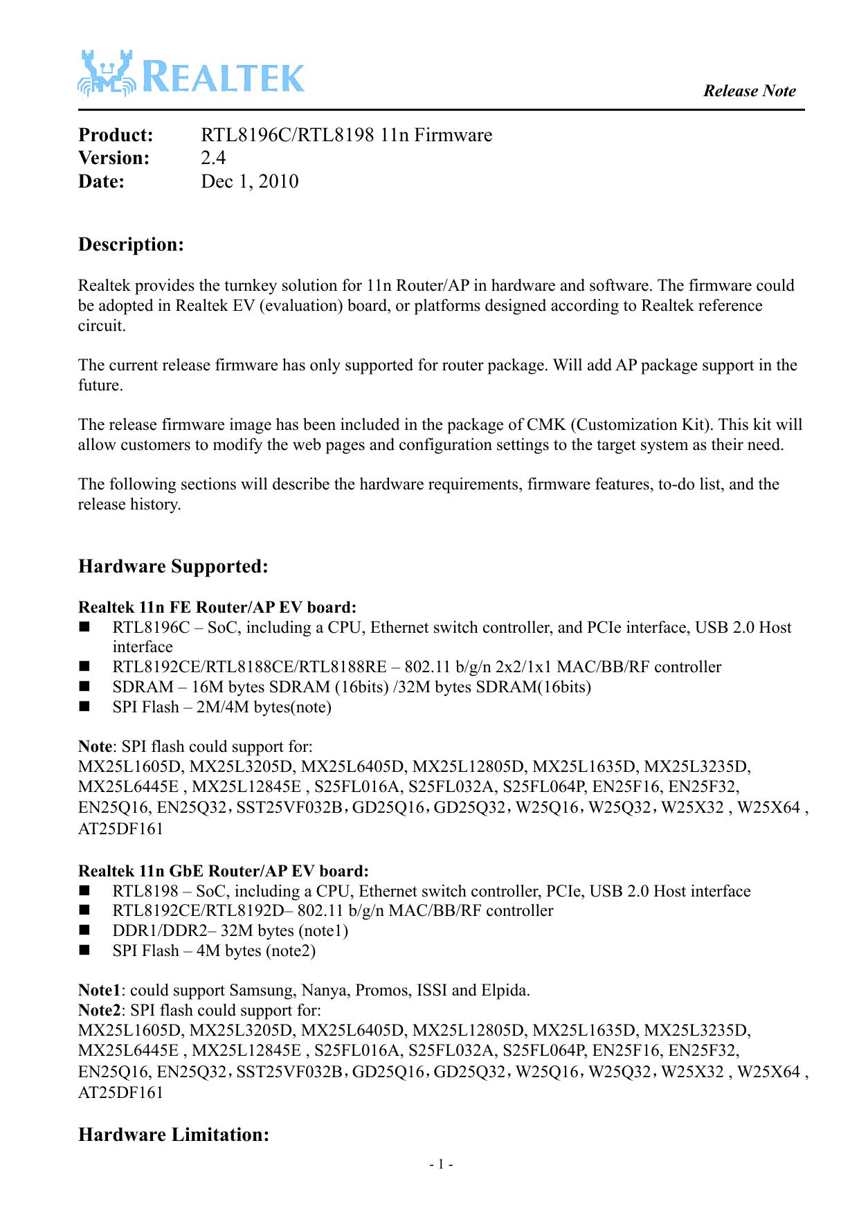 RTL8196C/RTL8198 11n Firmware Version: 2 4 Date   manualzz com