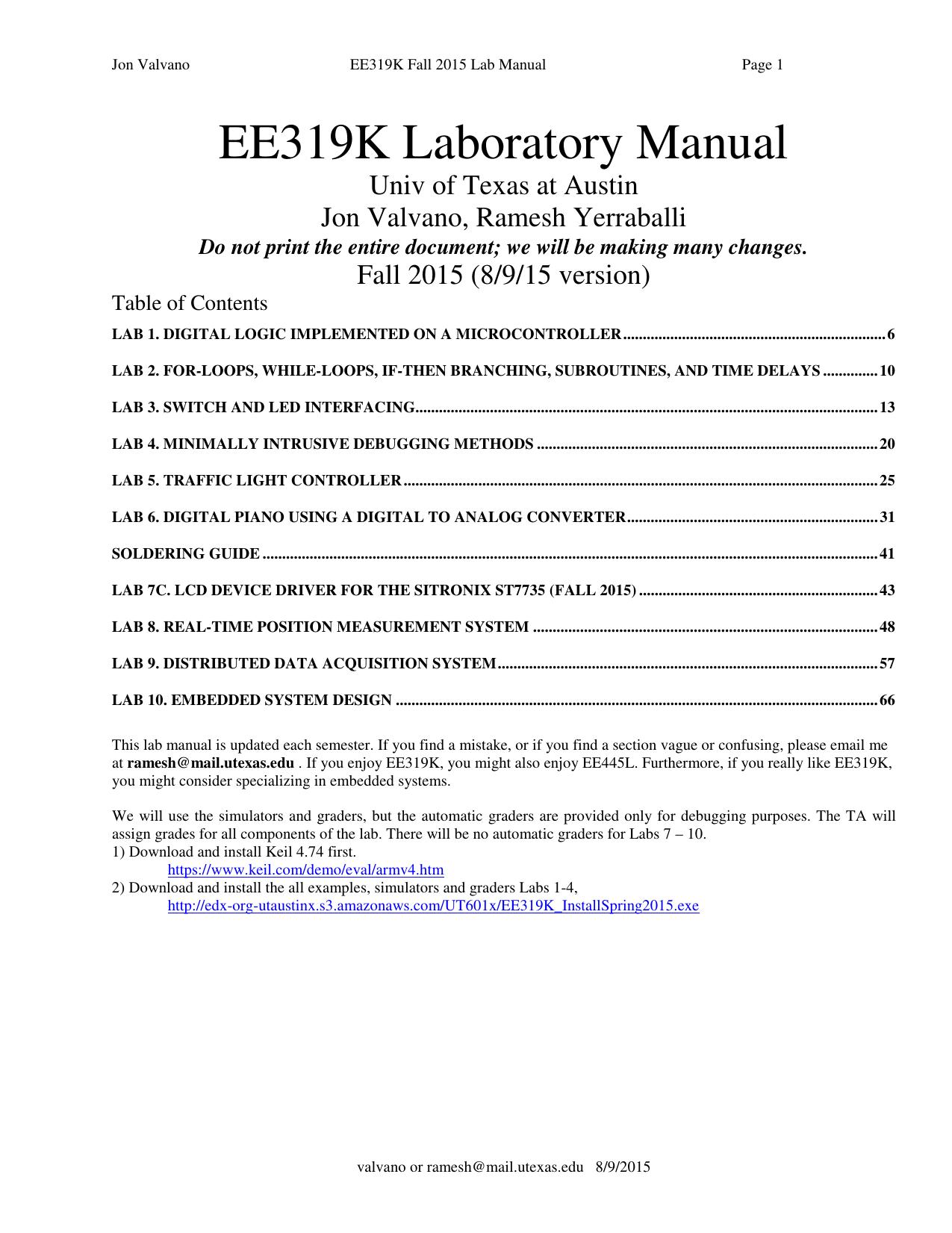 ee319k homework manual