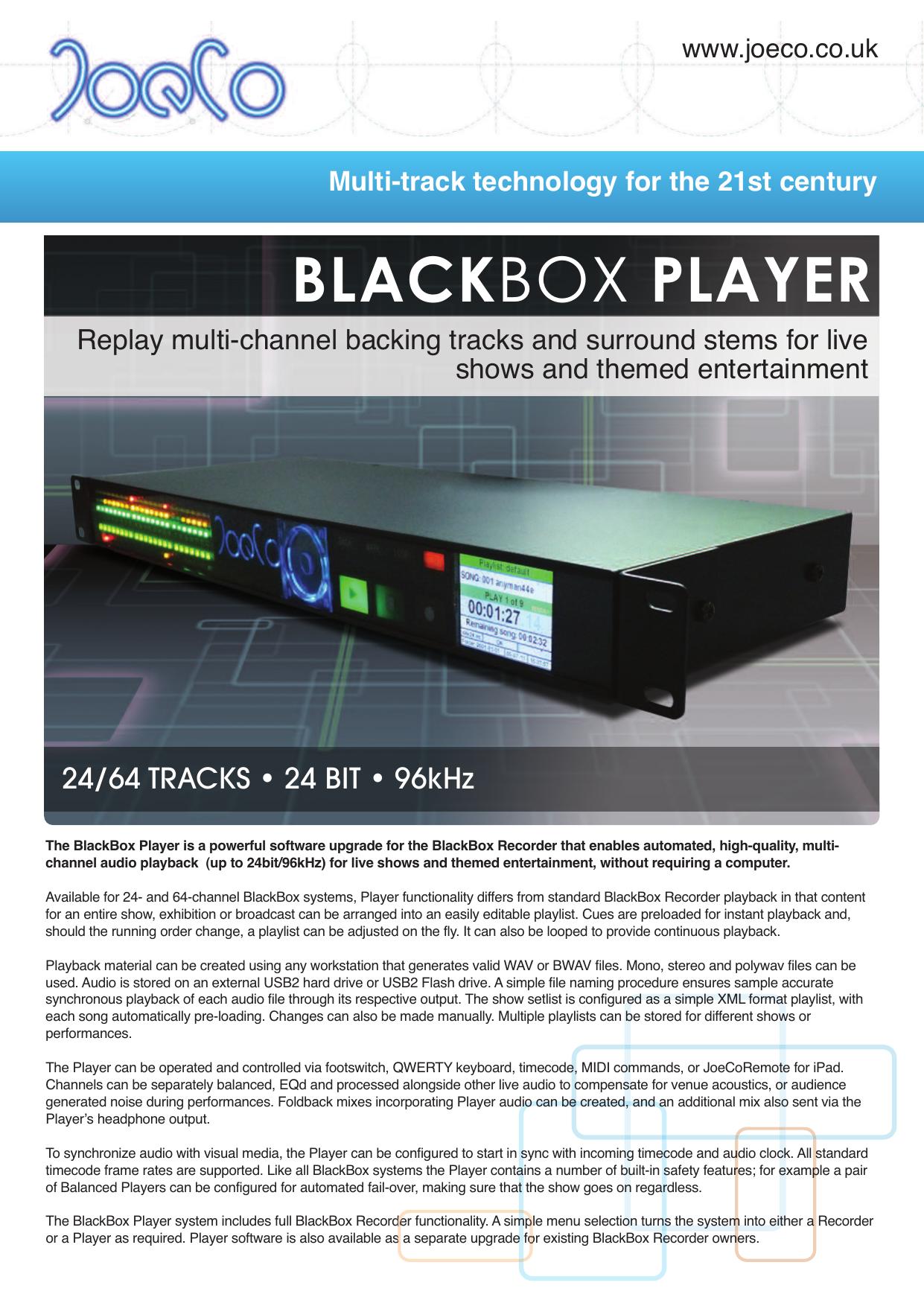 BlackBox Player | manualzz com