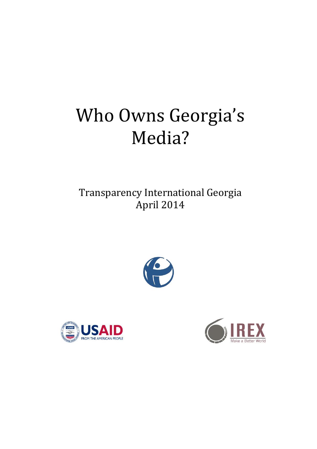 Who Owns Georgia`s Media | manualzz com