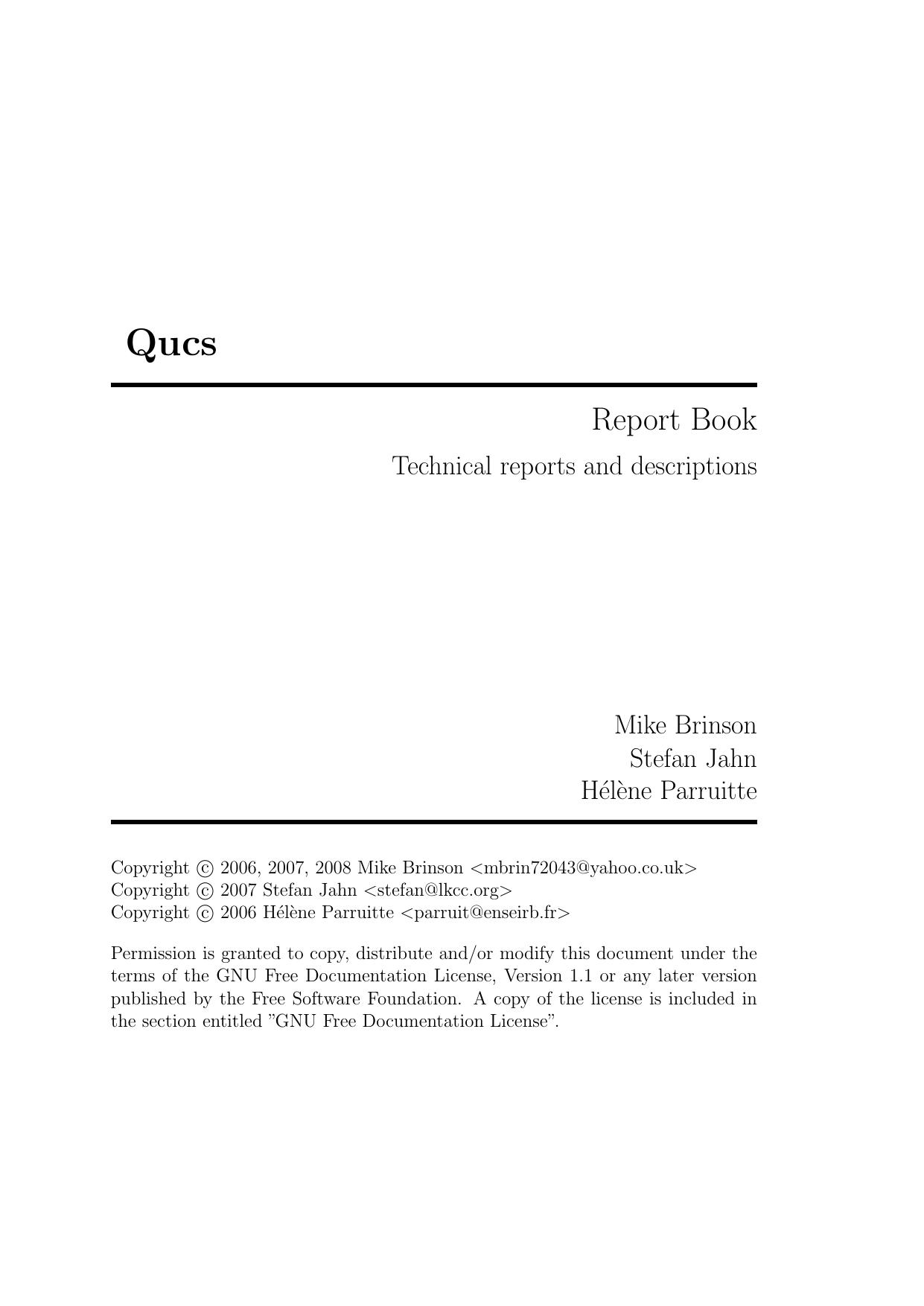 Report Book - Qucs | manualzz com