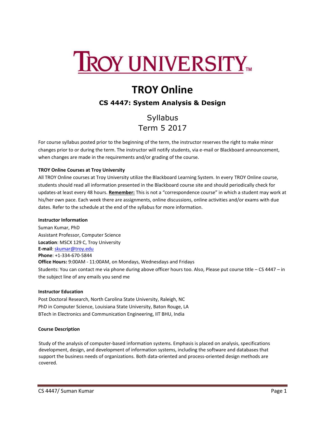 Troy University Online >> Troy Online Troy University Manualzz Com