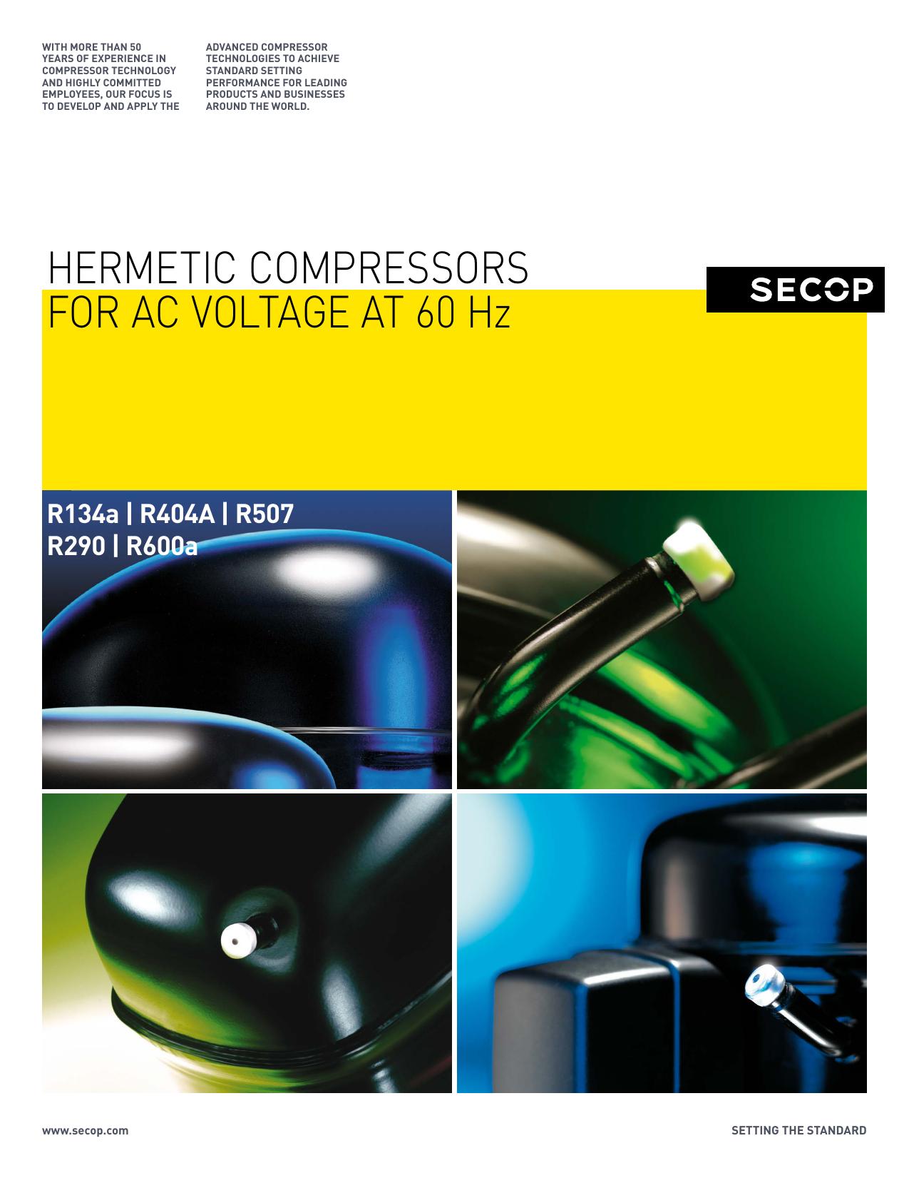 HERMETIC COMPRESSORS FOR AC VOLTAGE AT 60 Hz | manualzz com