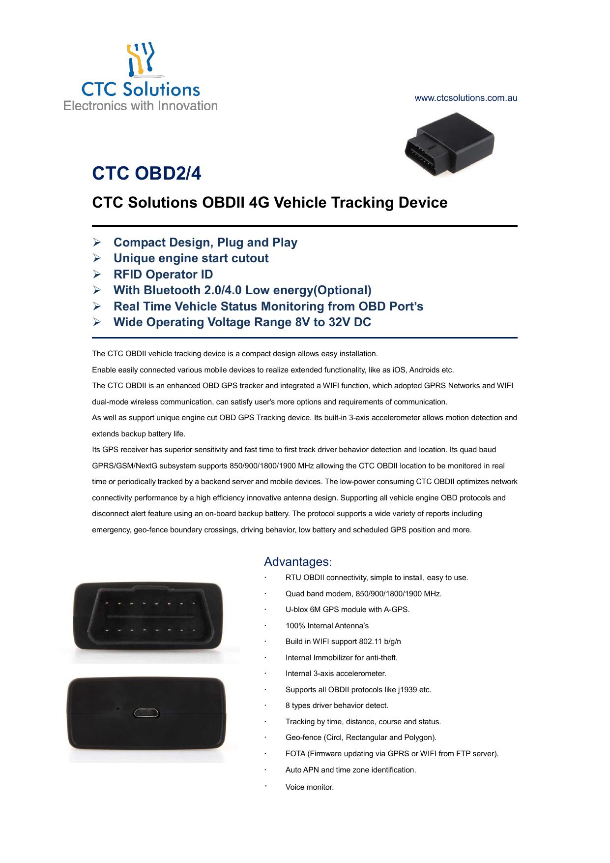 CTC OBD2/4 - CTC Solutions | manualzz com