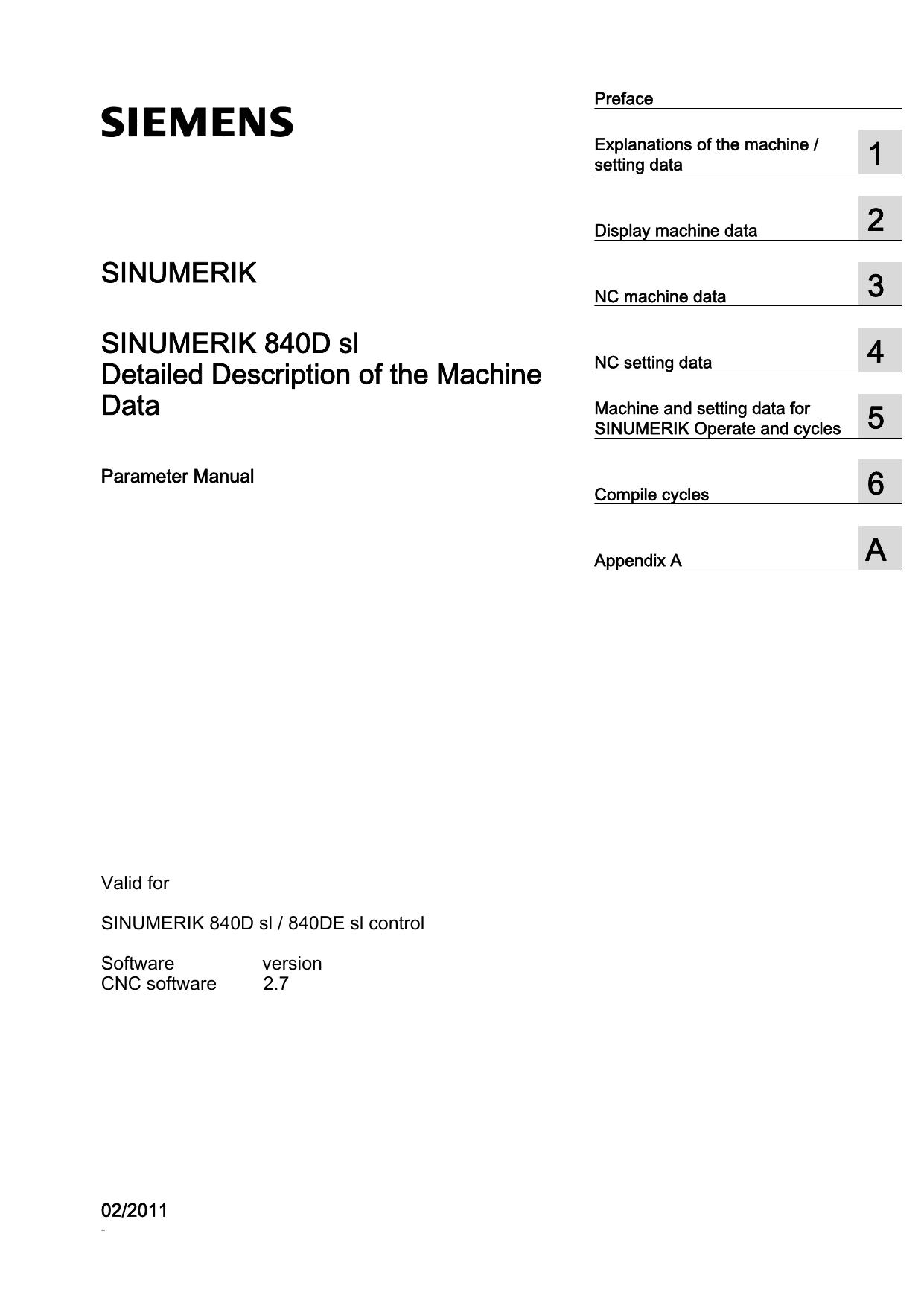 Parameter Manual, Detailed Description of the Machine | manualzz com