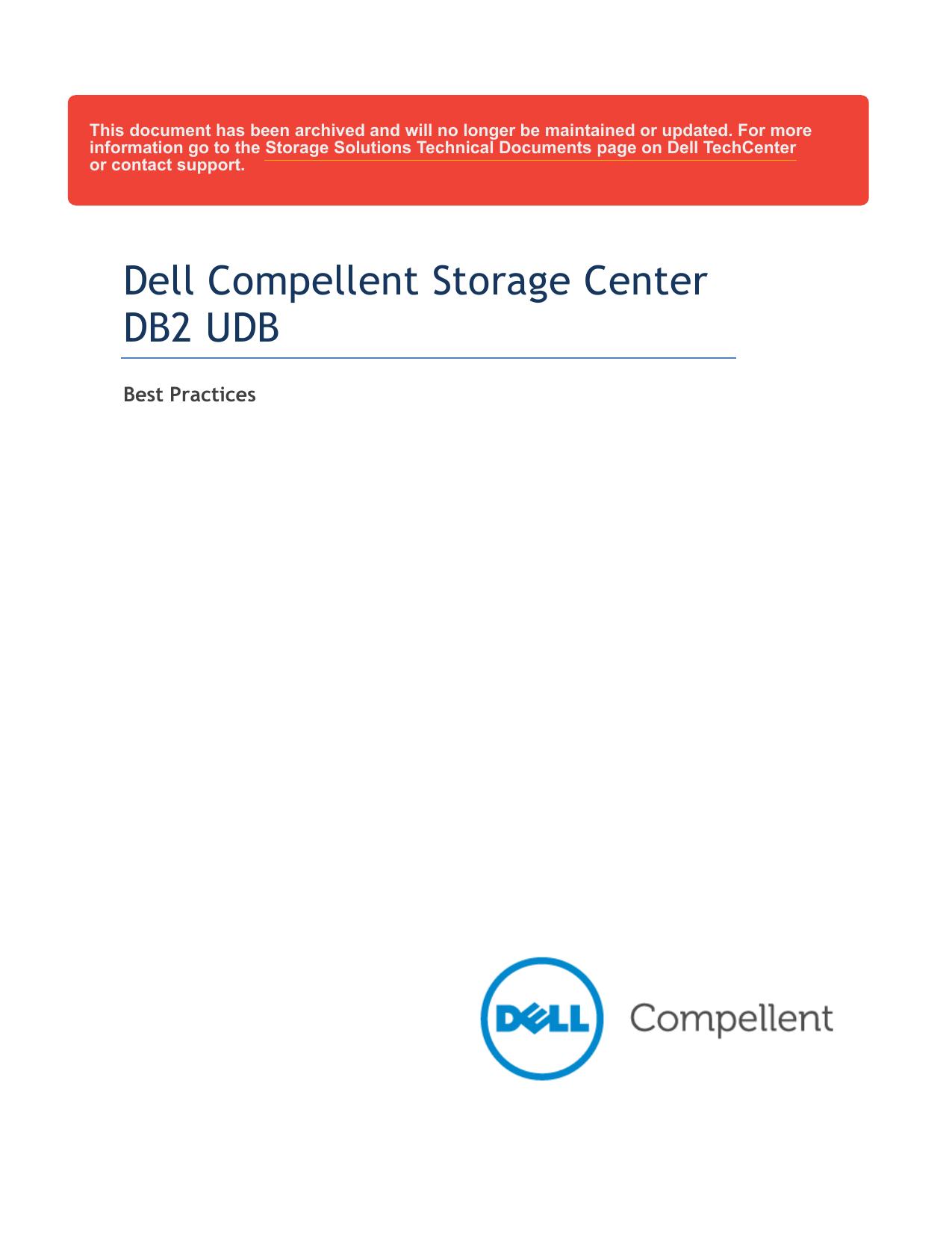 Dell Compellent Storage Center DB2 UDB | manualzz com