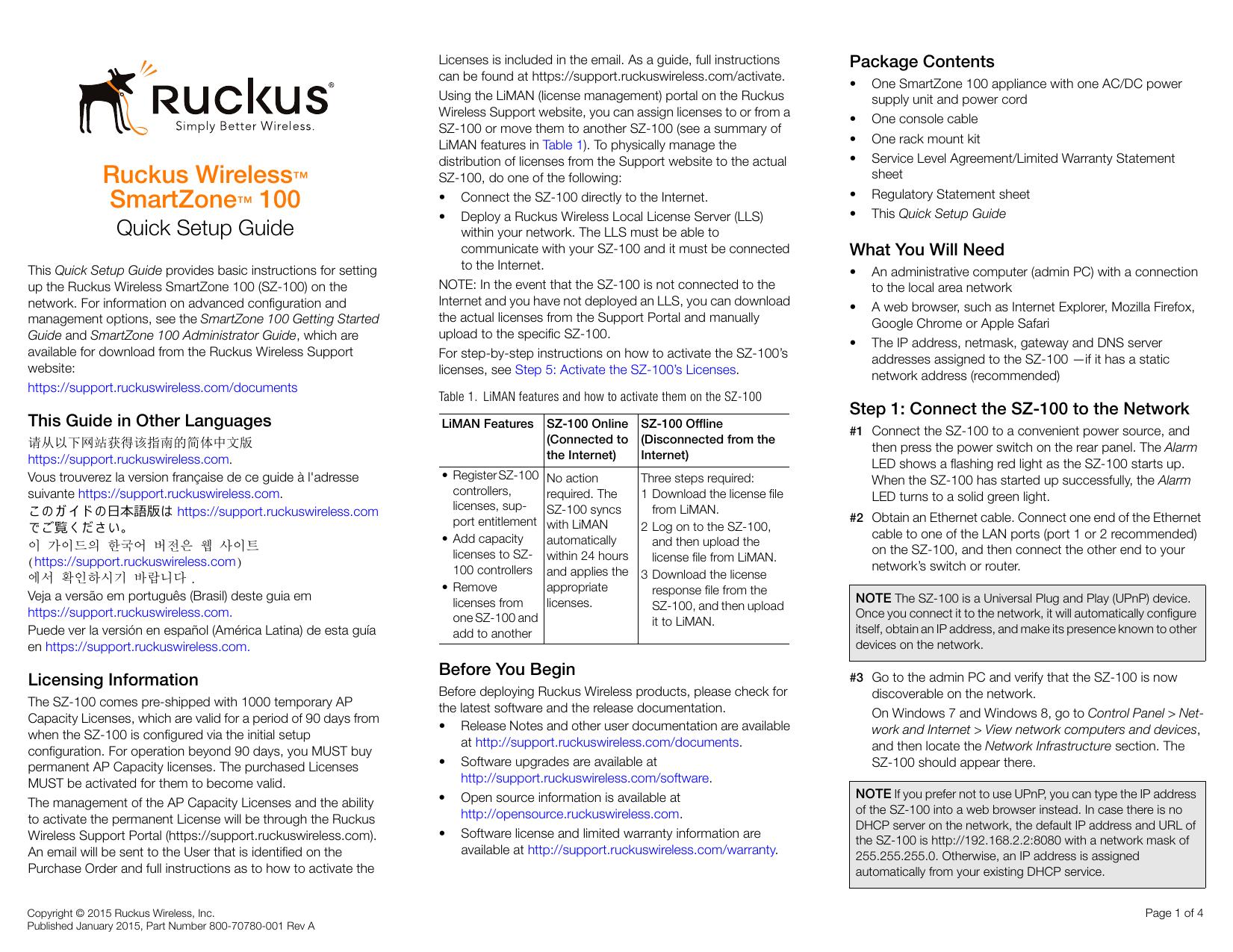 SZ-100 Quick Setup Guide for RuckOS 3 0 | manualzz com