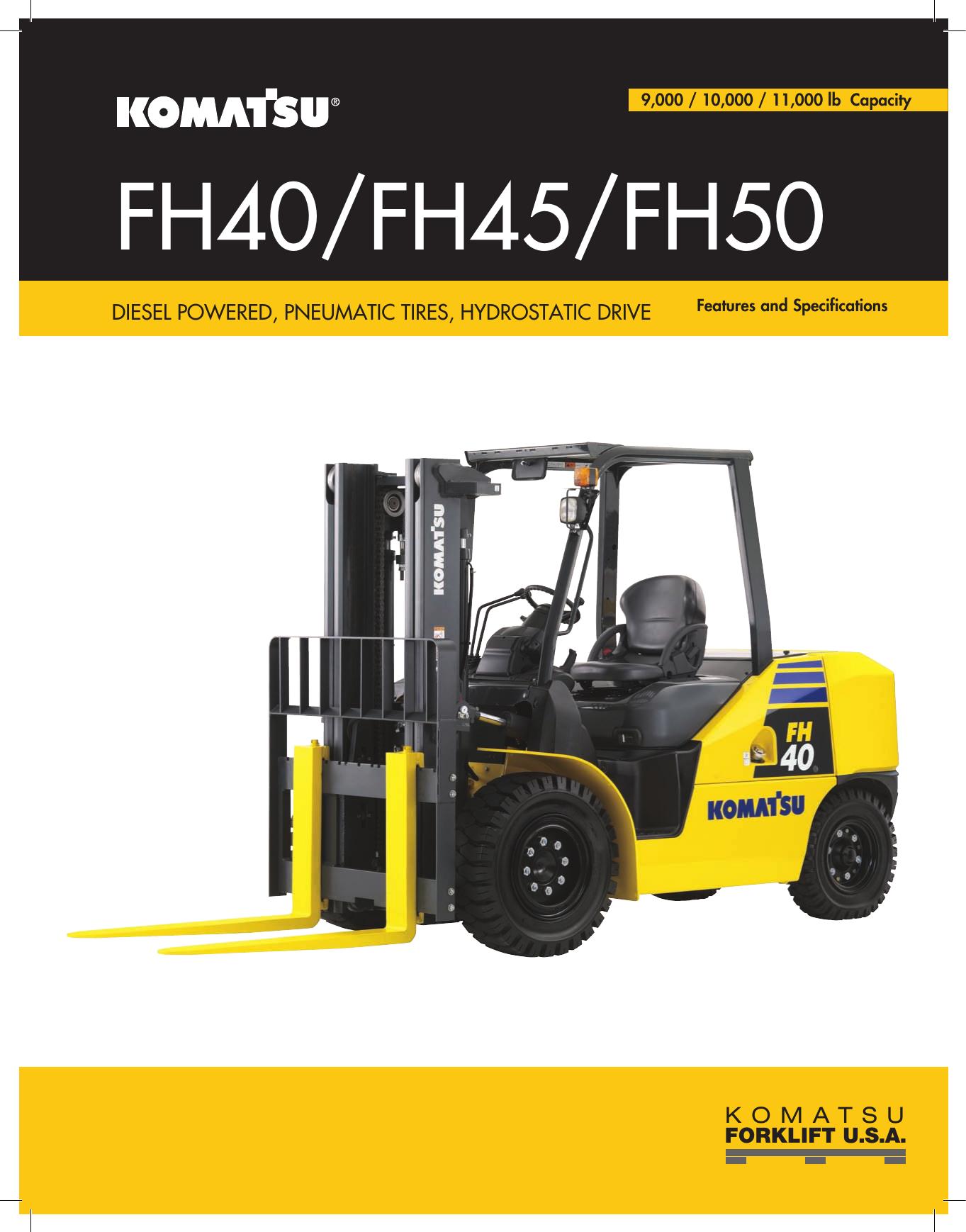 FH40/FH45/FH50 - Komatsu America Corp    manualzz com