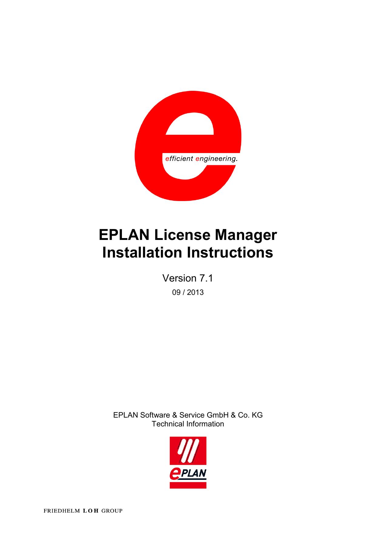 EPLAN License Manager Installation Instructions   manualzz com