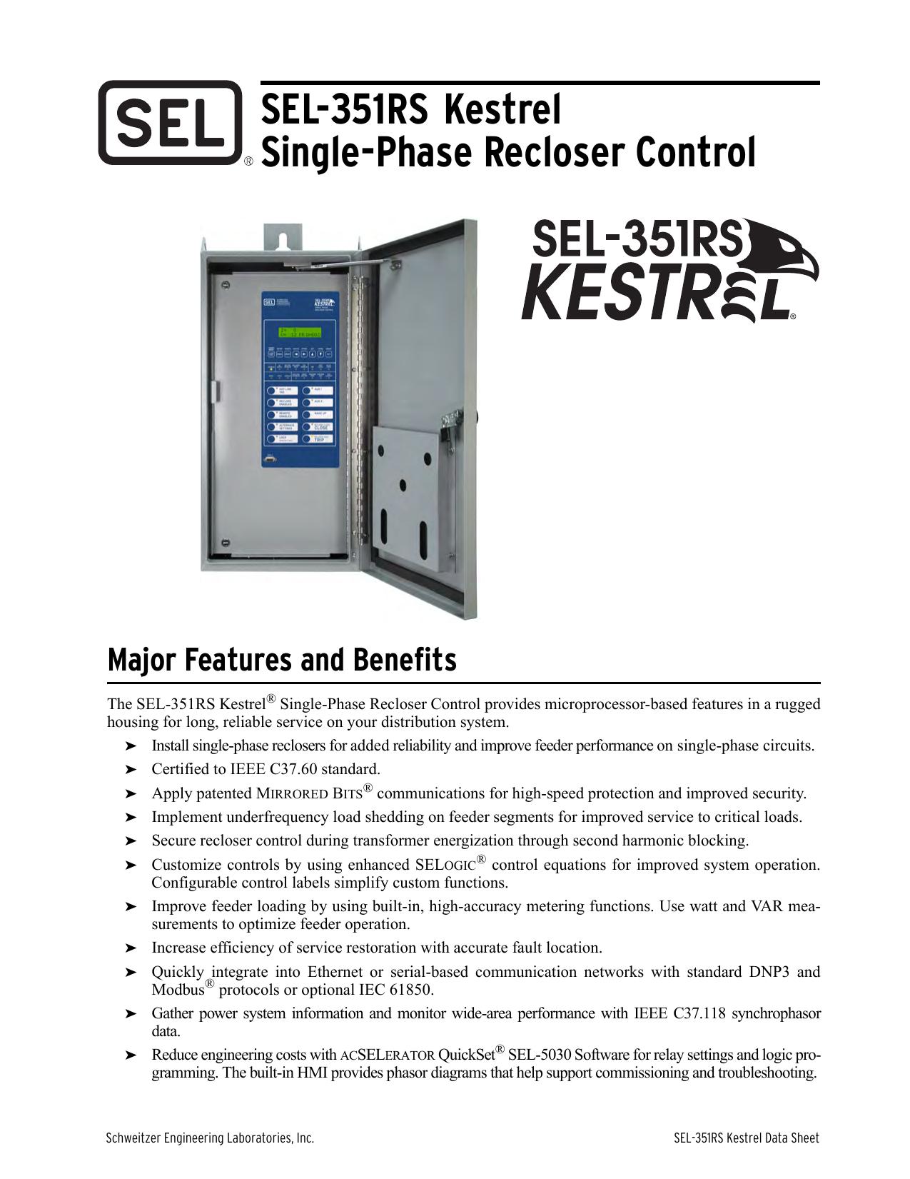 SEL-351RS Kestrel Data Sheet   manualzz com