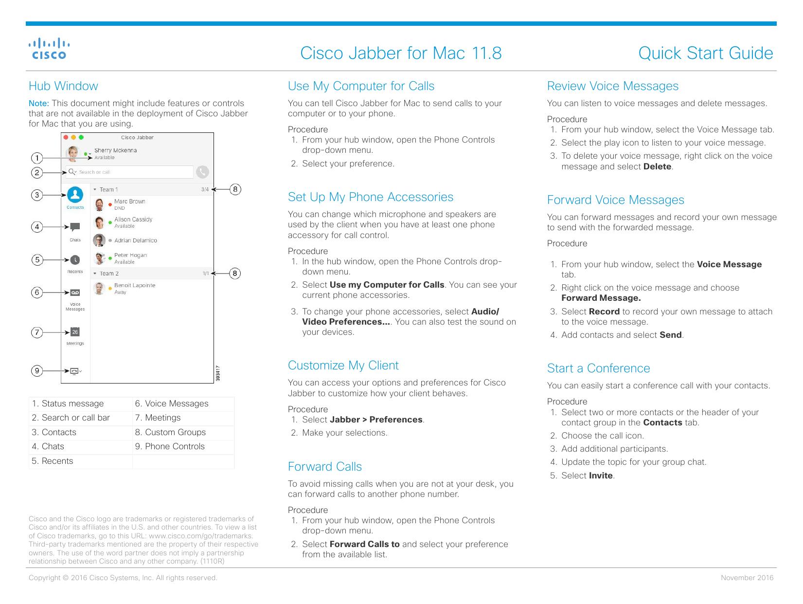 Cisco Jabber for Mac 11 8 Quick Start Guide | manualzz com