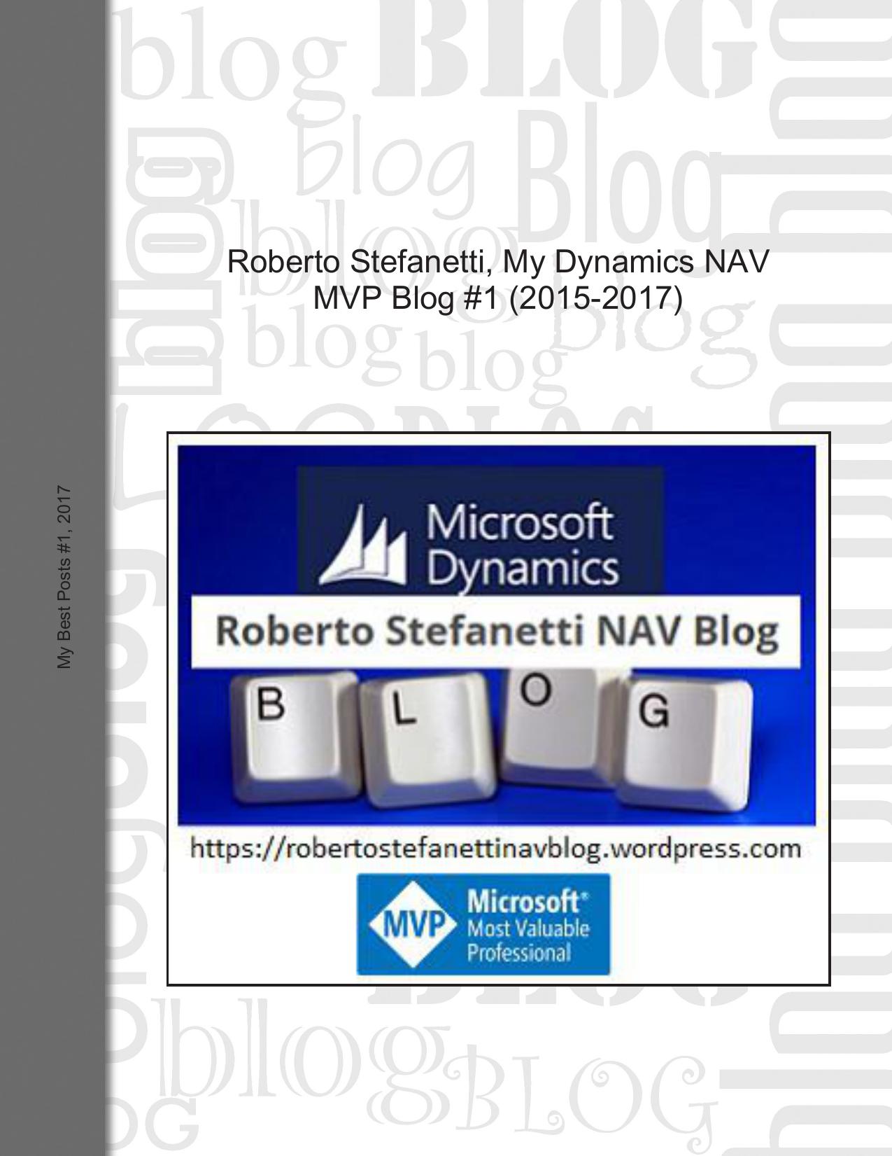 Roberto Stefanetti, My Dynamics NAV MVP Blog   manualzz com
