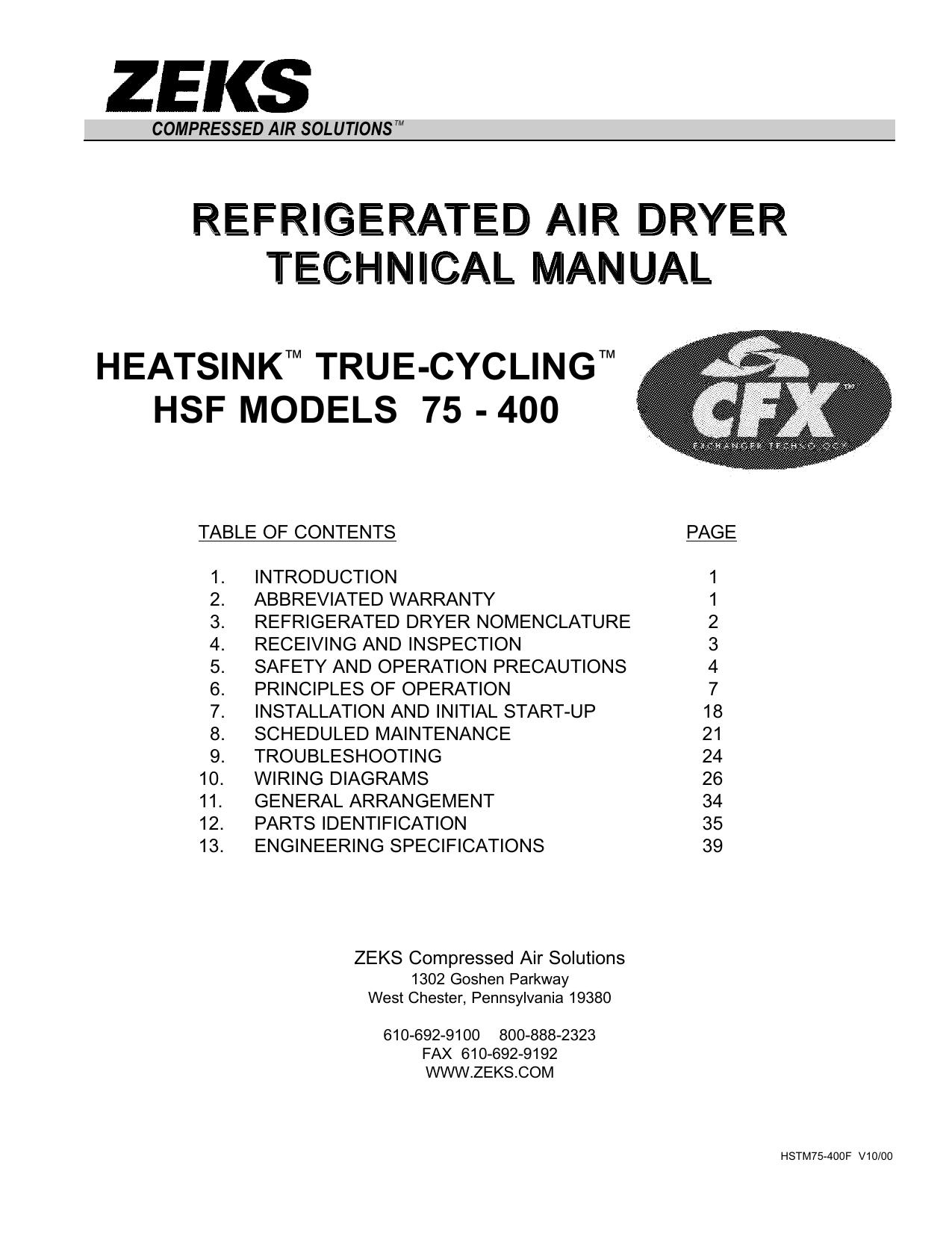 heatsink™ true-cycling™ hsf models 75 - 400