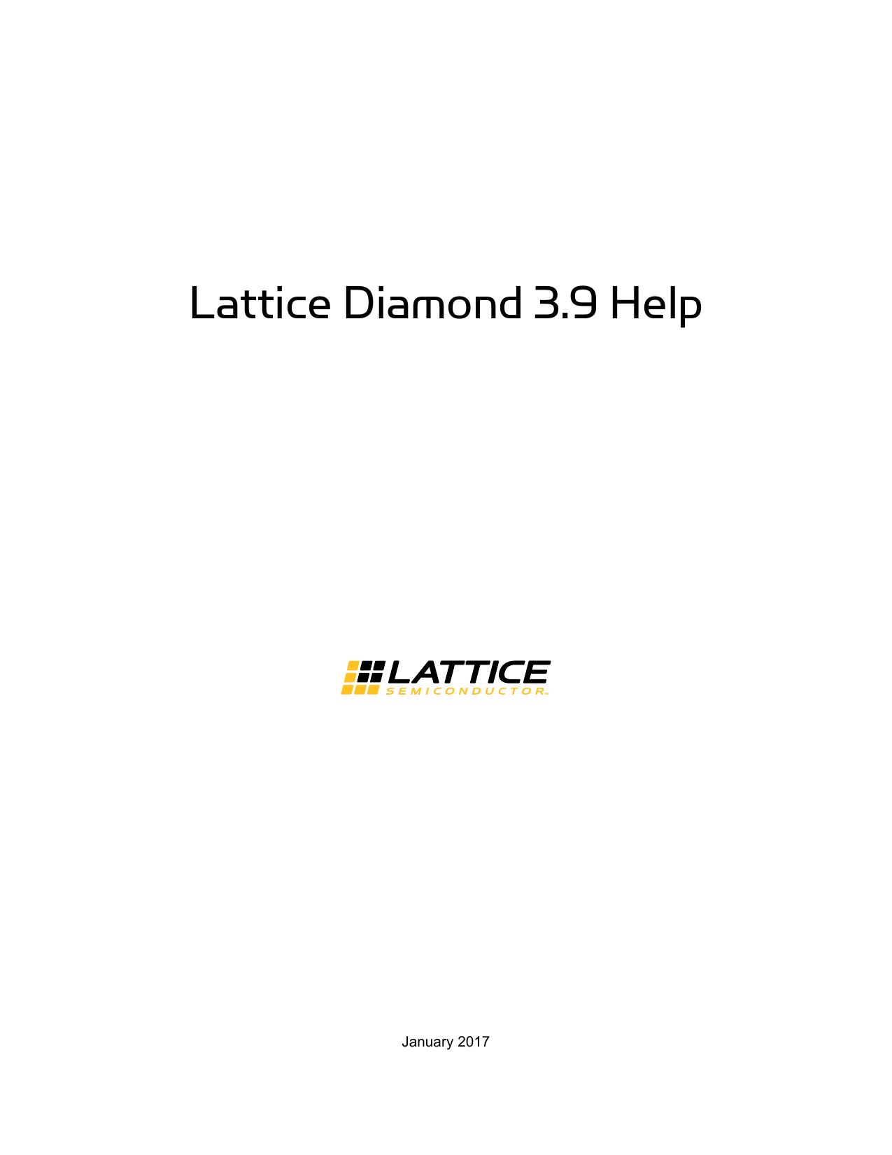 Lattice Diamond Help - Lattice Semiconductor | manualzz com