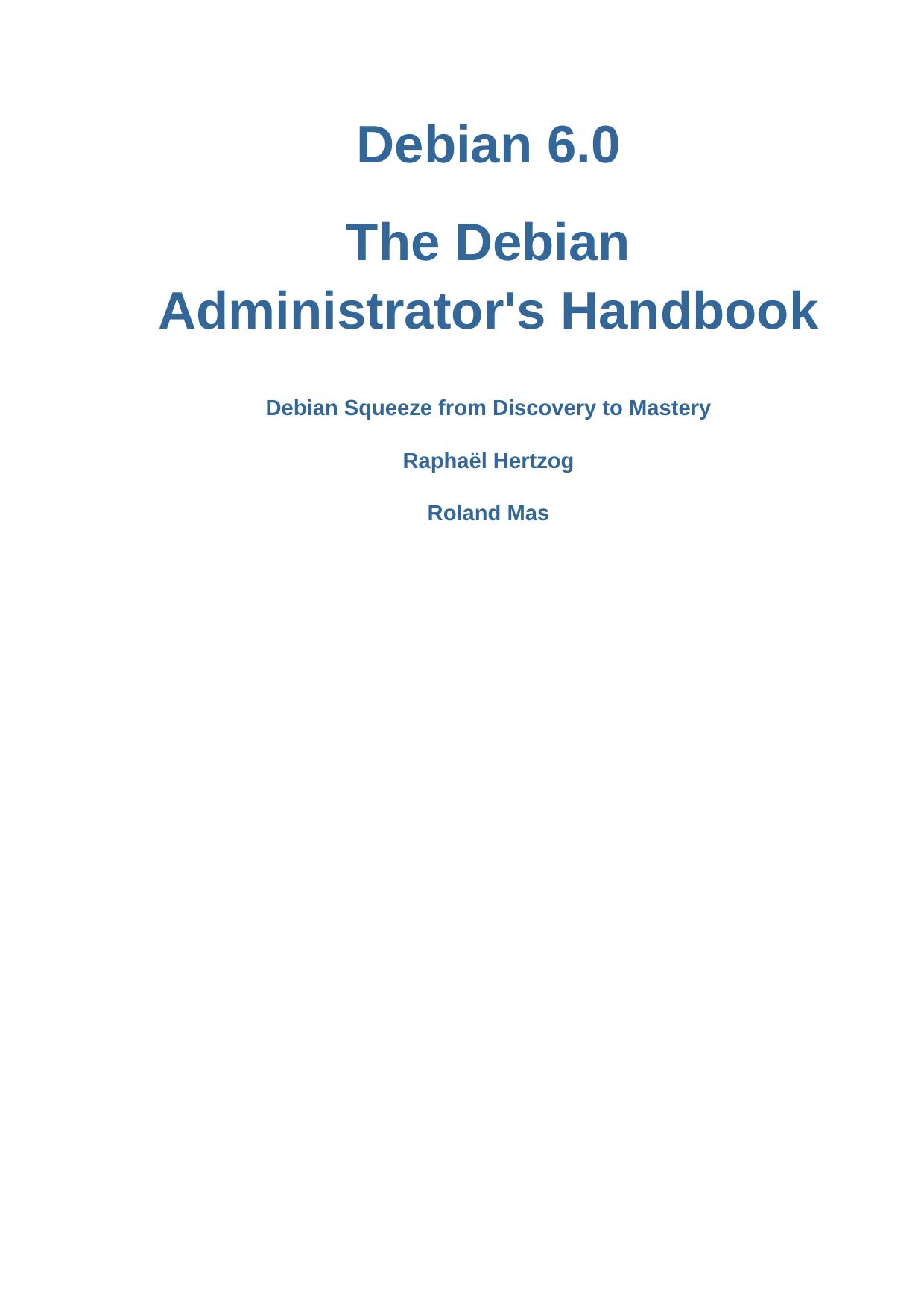 The Debian Administrator`s Handbook | manualzz com