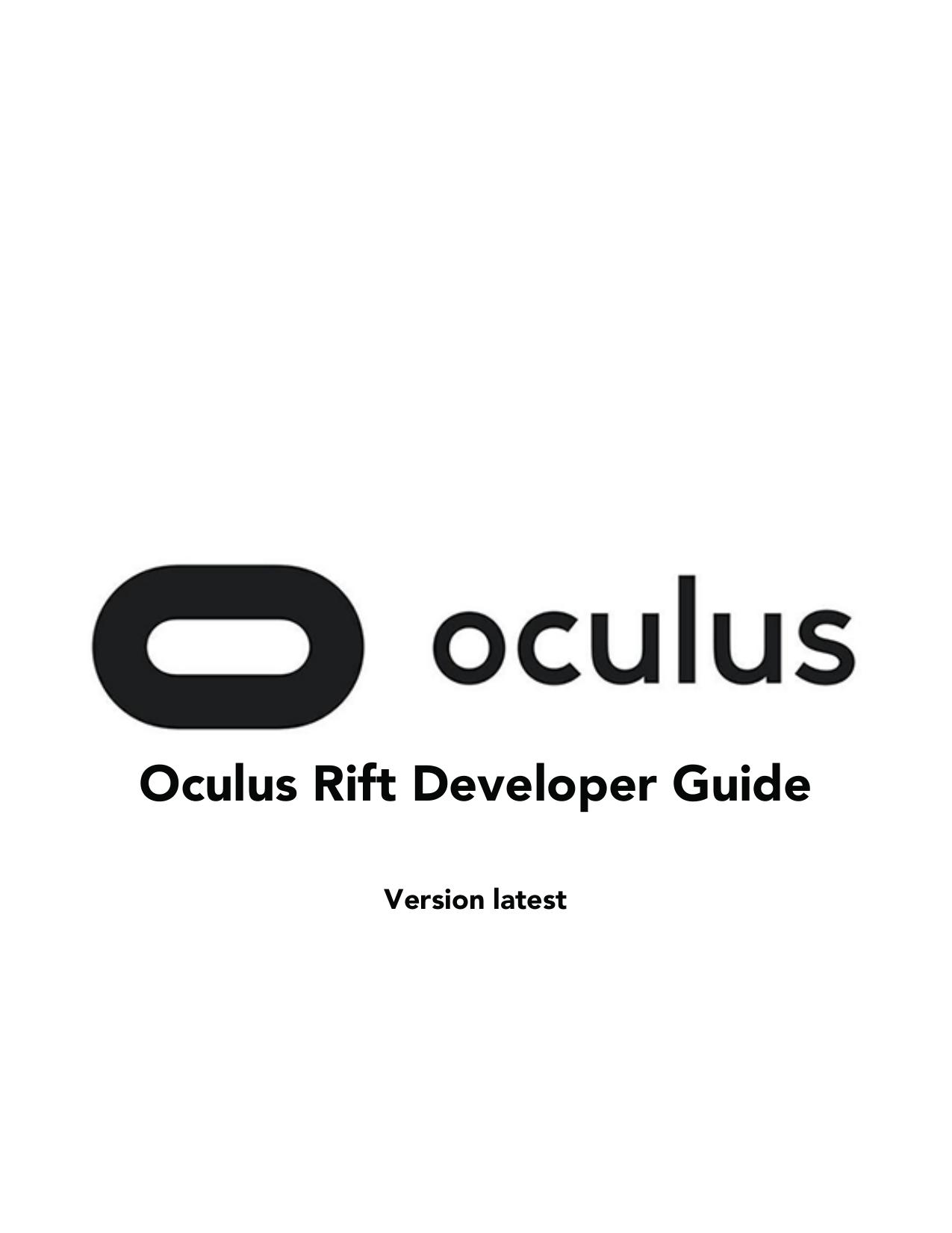 Oculus Rift Developer Guide   manualzz com
