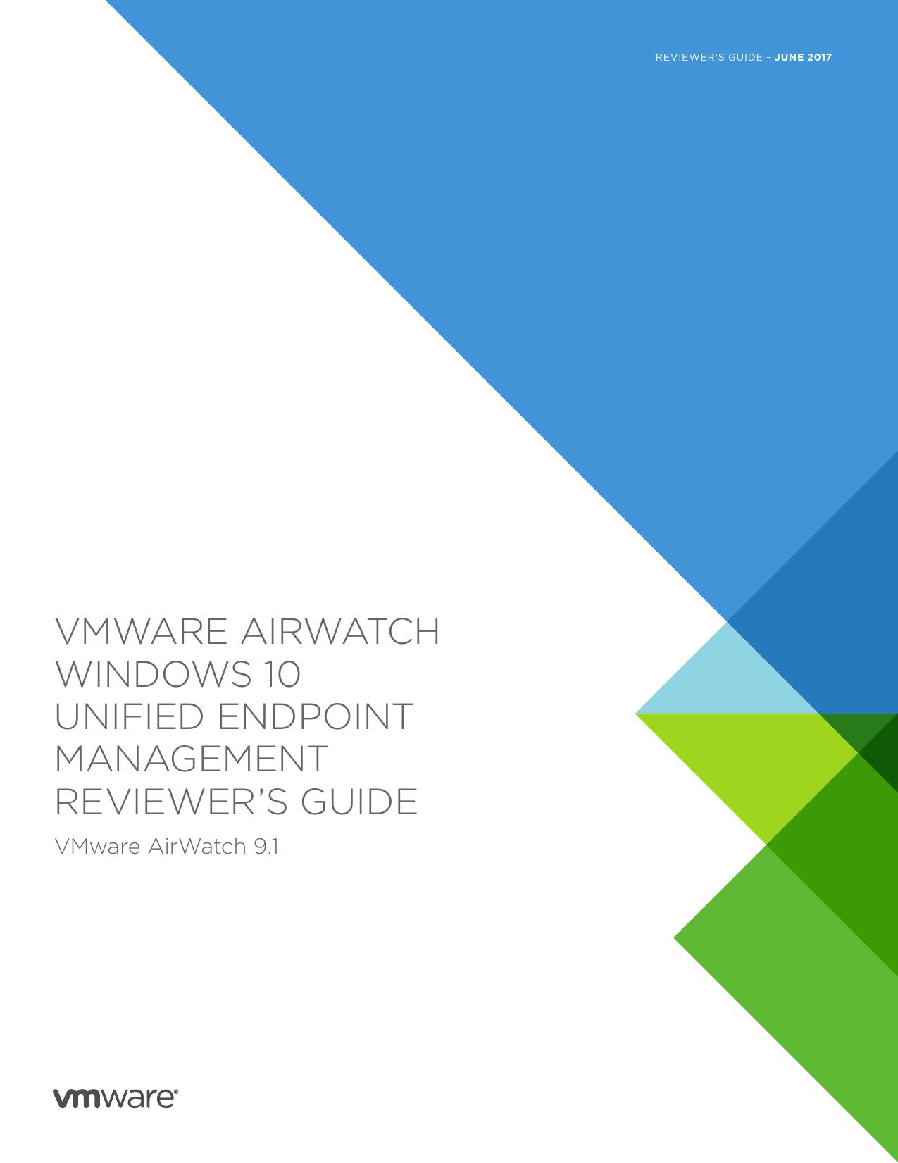 VMware AirWatch Windows 10 Unified Endpoint Management