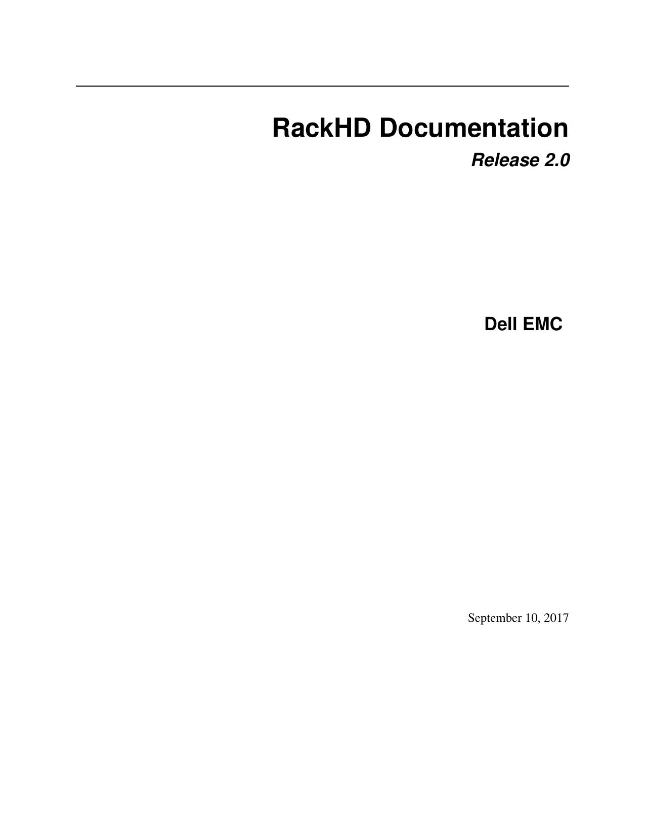 RackHD Documentation | manualzz com