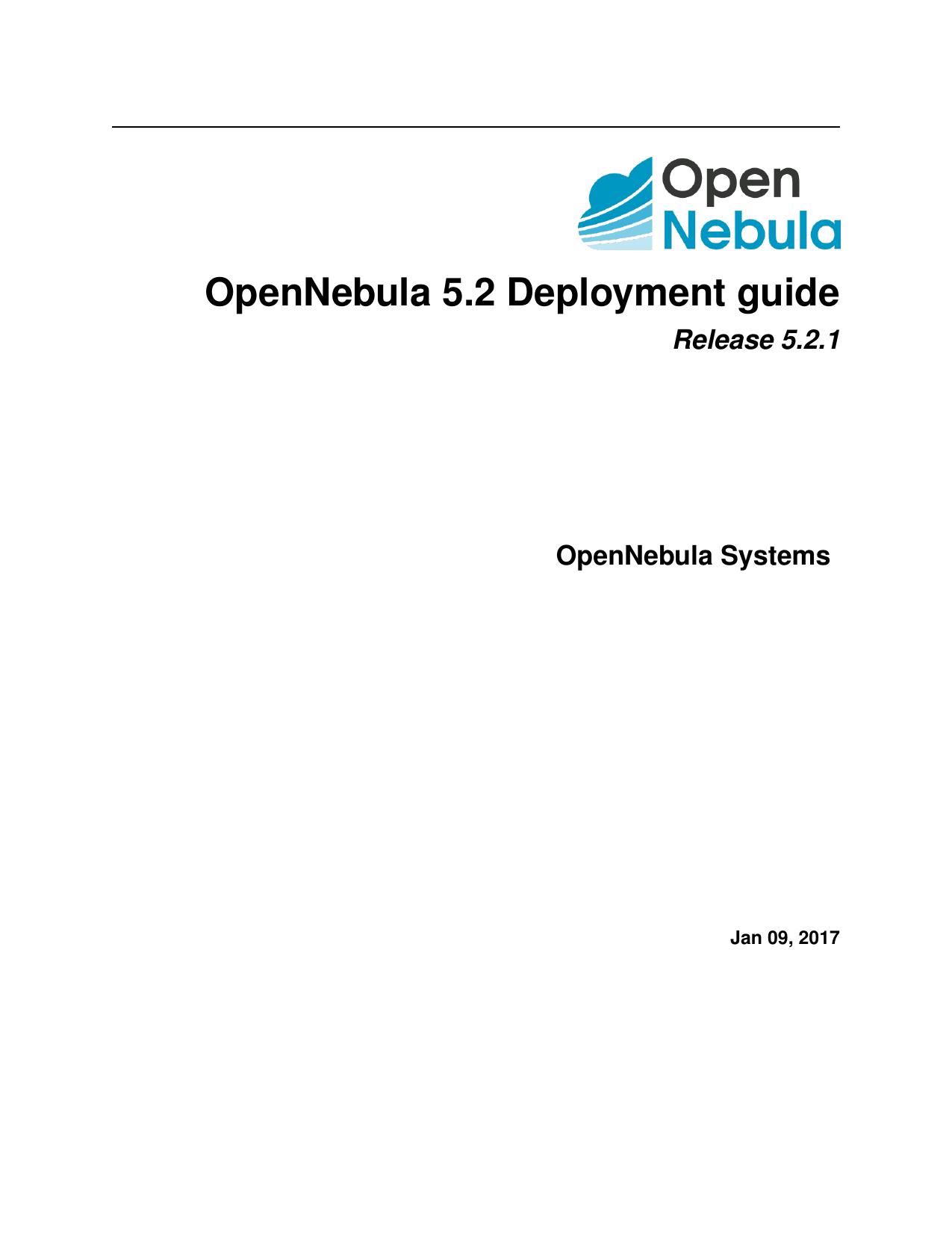 OpenNebula 5 2 Deployment guide   manualzz com
