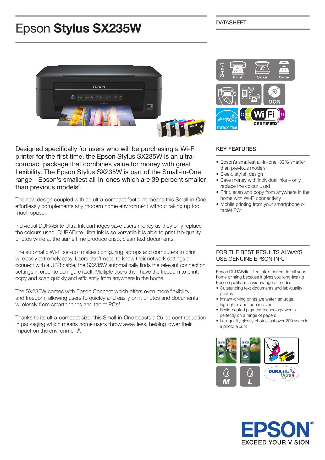 Epson Stylus Sx235w Manualzz