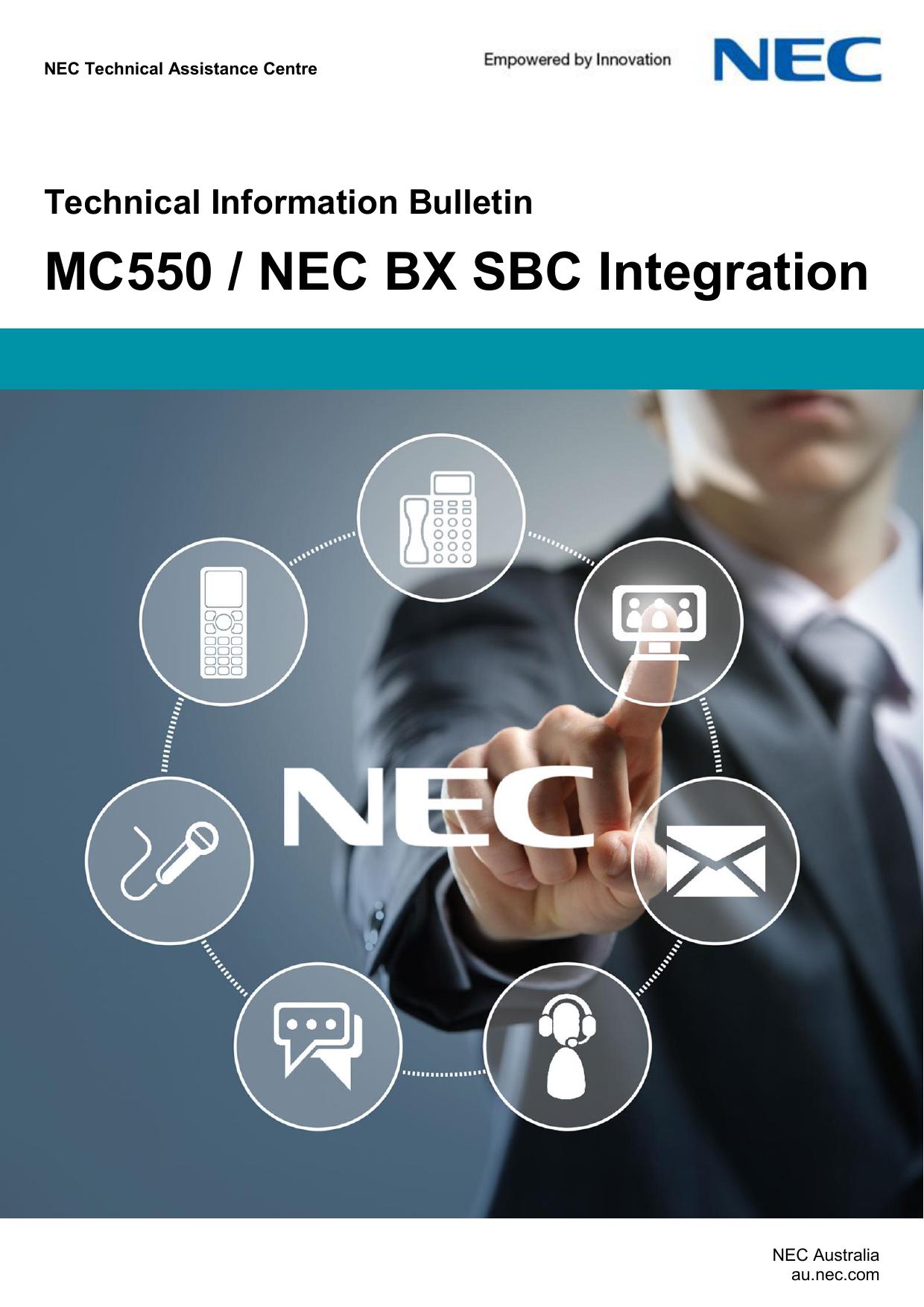 MC550 / NEC BX SBC Integration   manualzz com