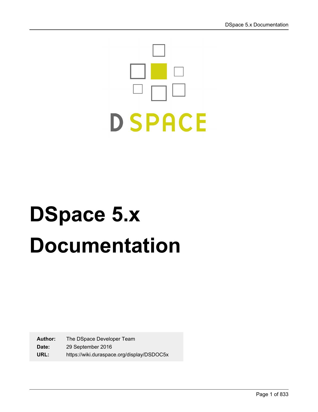 DSpace 5 x Documentation | manualzz com