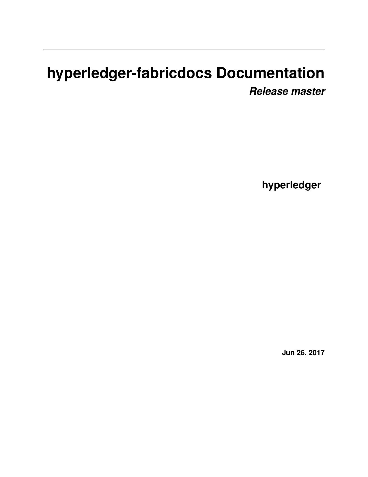 hyperledger-fabricdocs Documentation | manualzz com