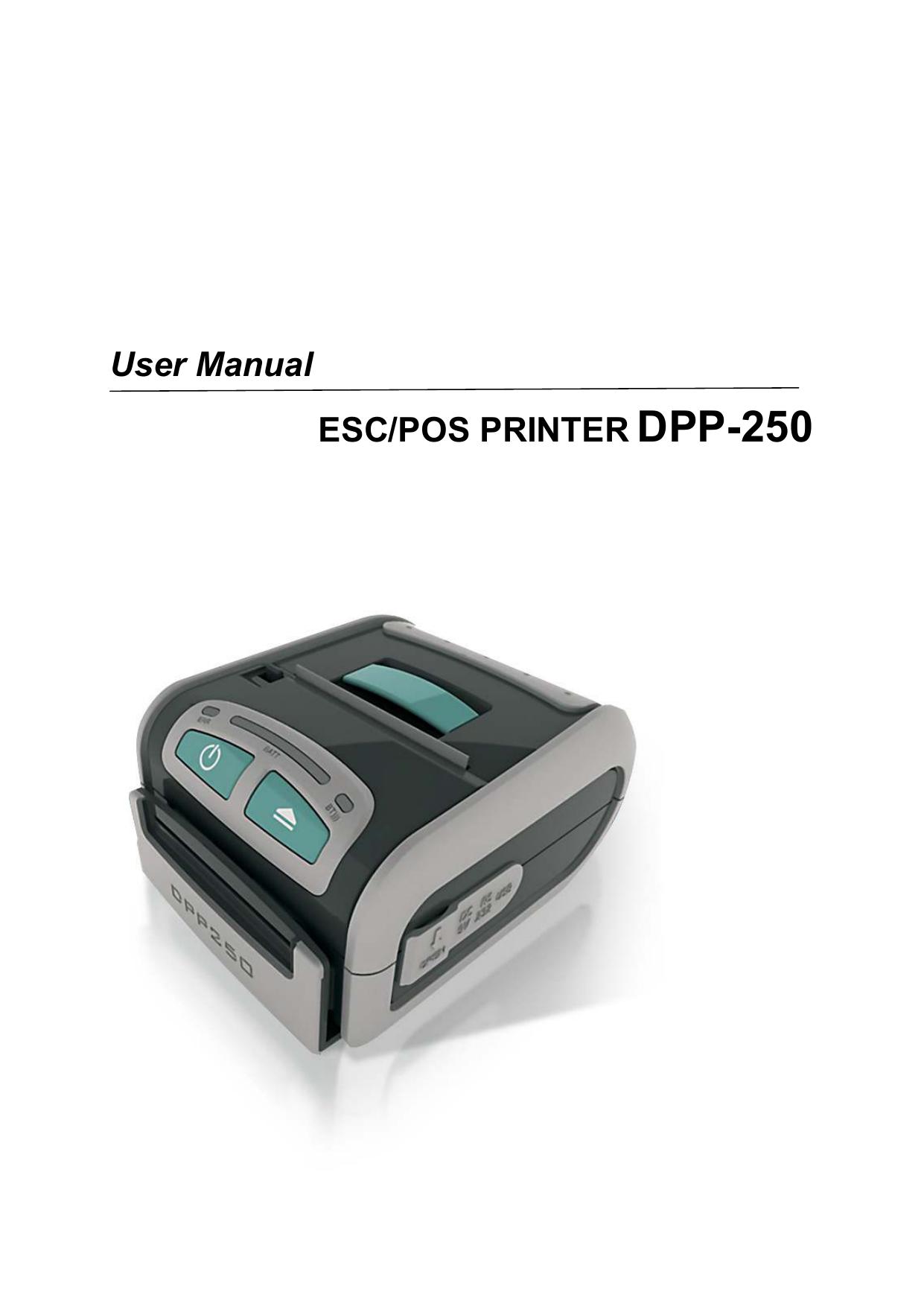 User Manual ESC/POS PRINTER DPP-250 | manualzz com