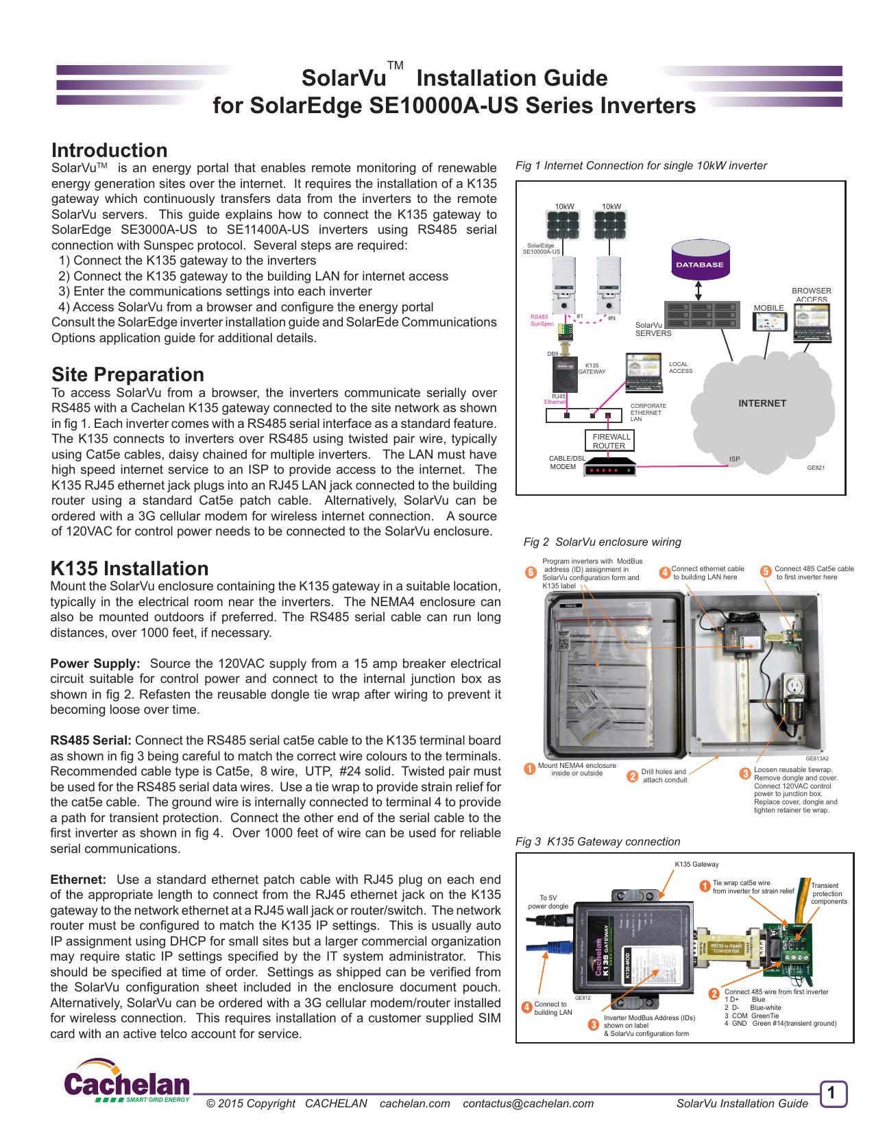 SolarVu Installation Guide for SolarEdge SE10000A | manualzz com