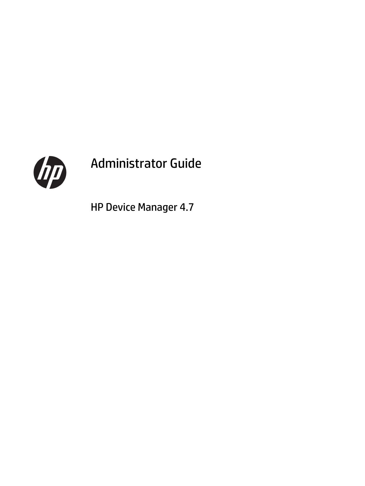 Administrator Guide HP Device Manager 4 7   manualzz com