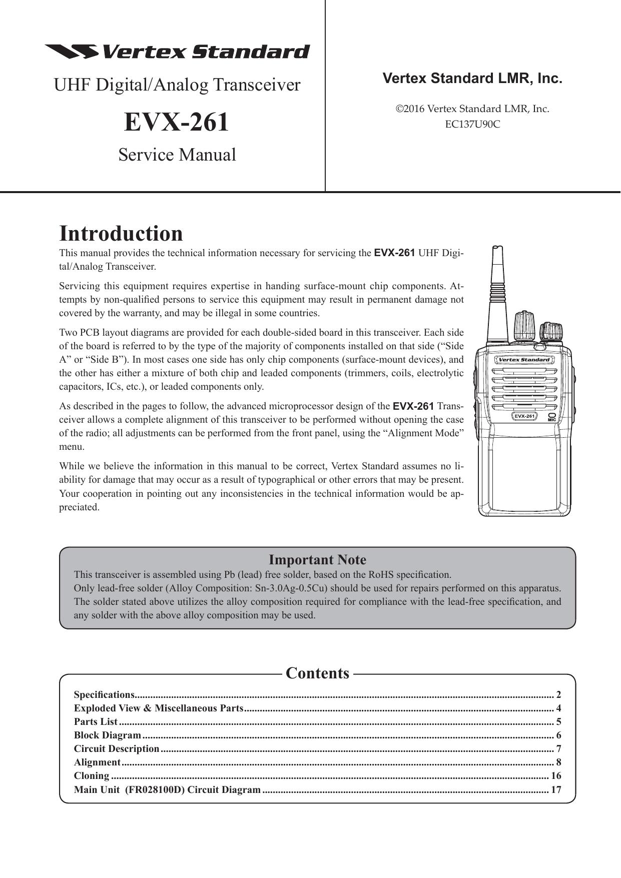 evx 261 radiotronics manualzz com rh manualzz com Residential Electrical Wiring Diagrams Light Switch Wiring Diagram