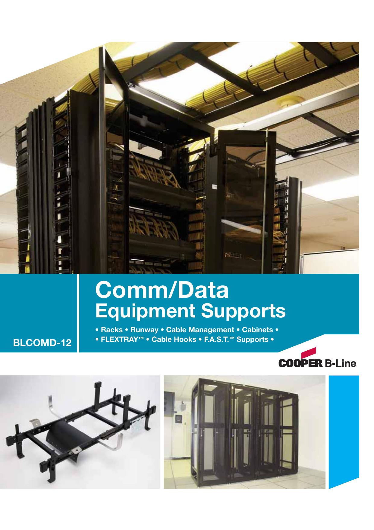 Cooper B-Line - Comm/Data Equipment Supports Catalog | manualzz.com
