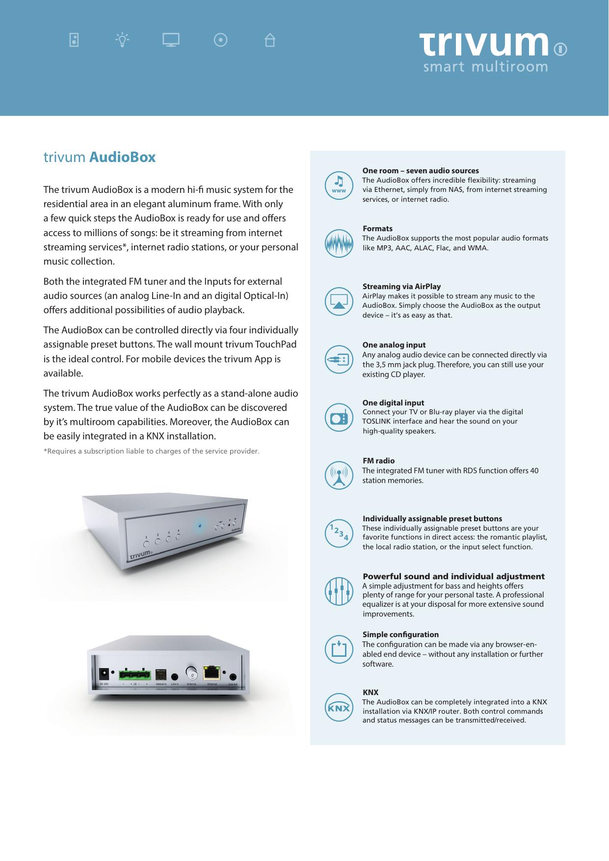 trivum AudioBox - ergodownload com | manualzz com