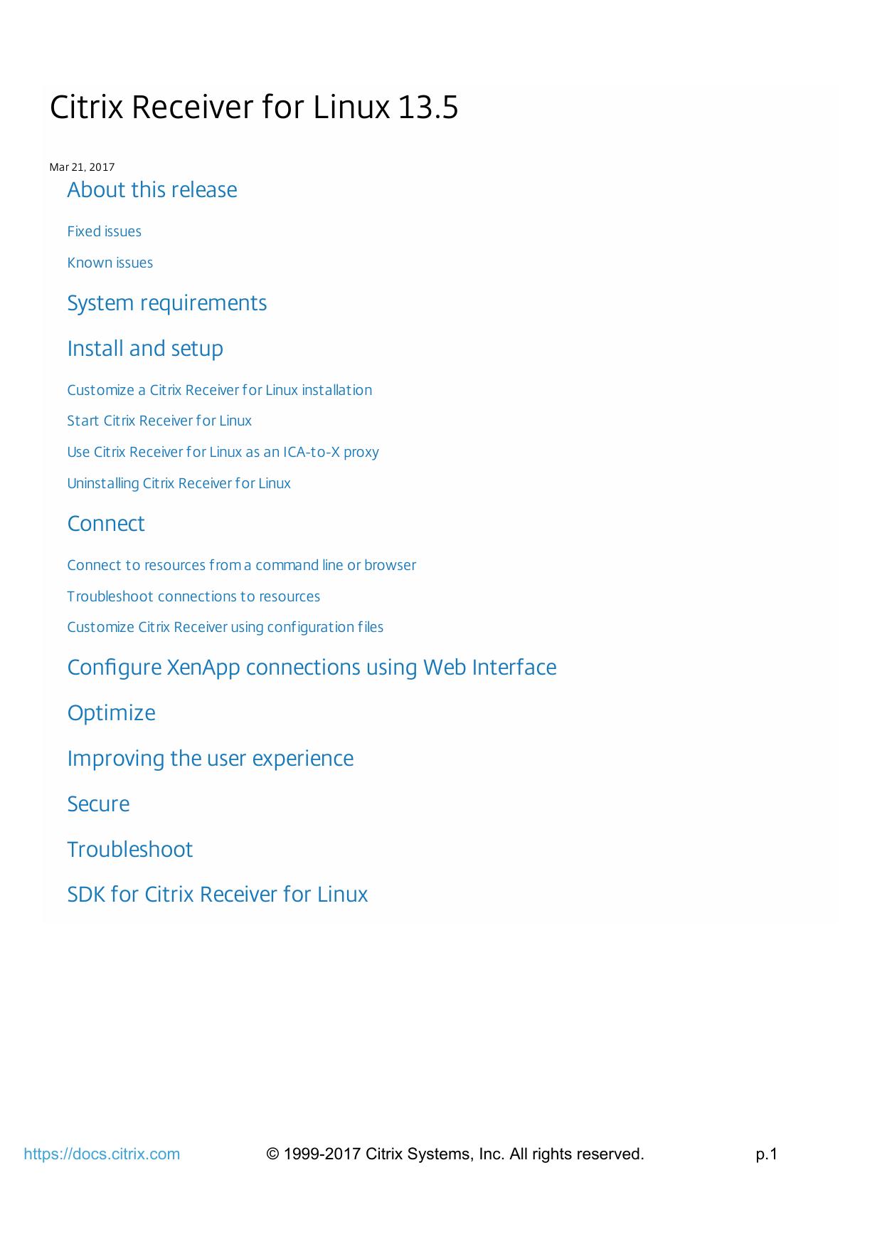Citrix Receiver for Linux 13 5 | manualzz com