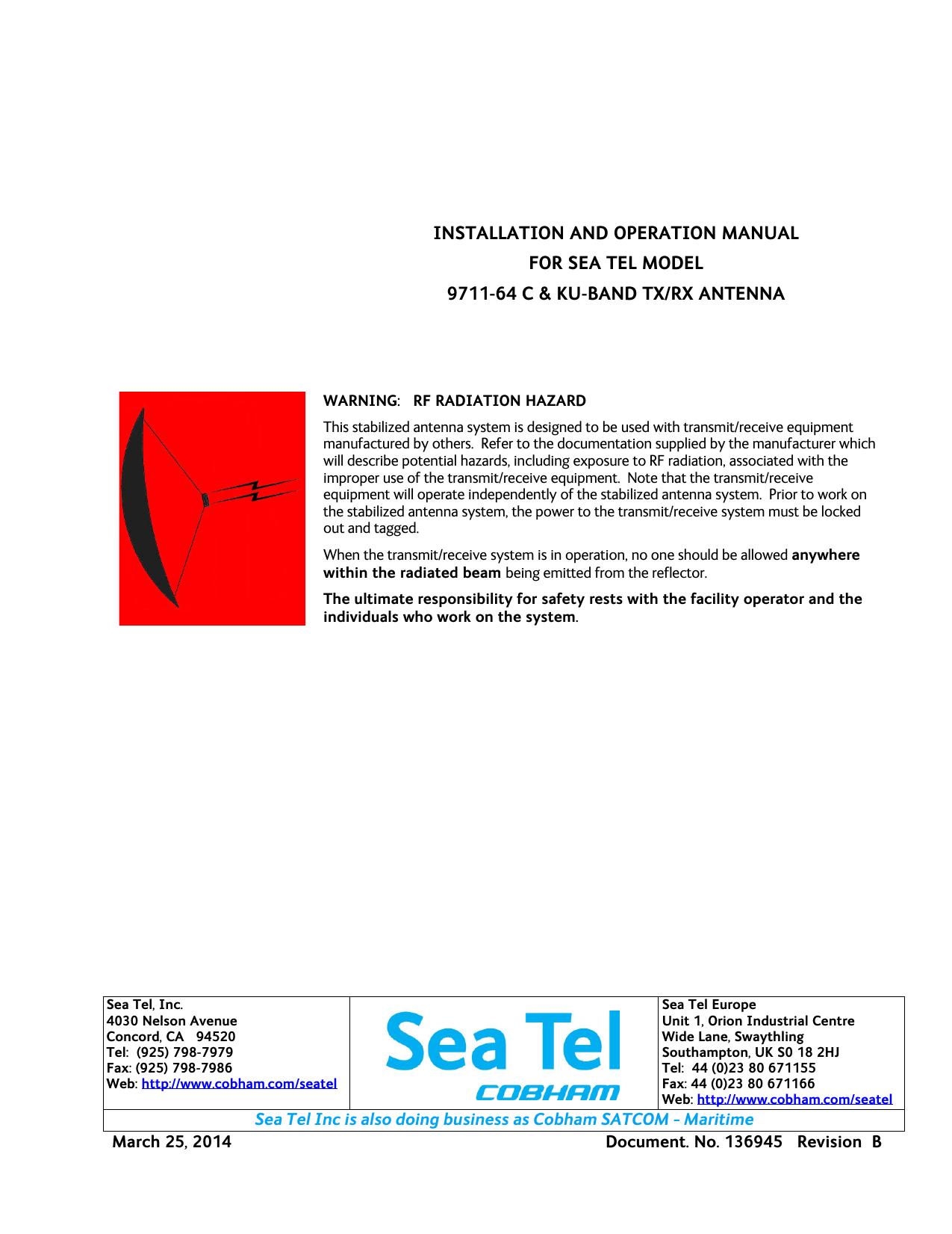 Installation and Operation Manual - Mil-Sat | manualzz com